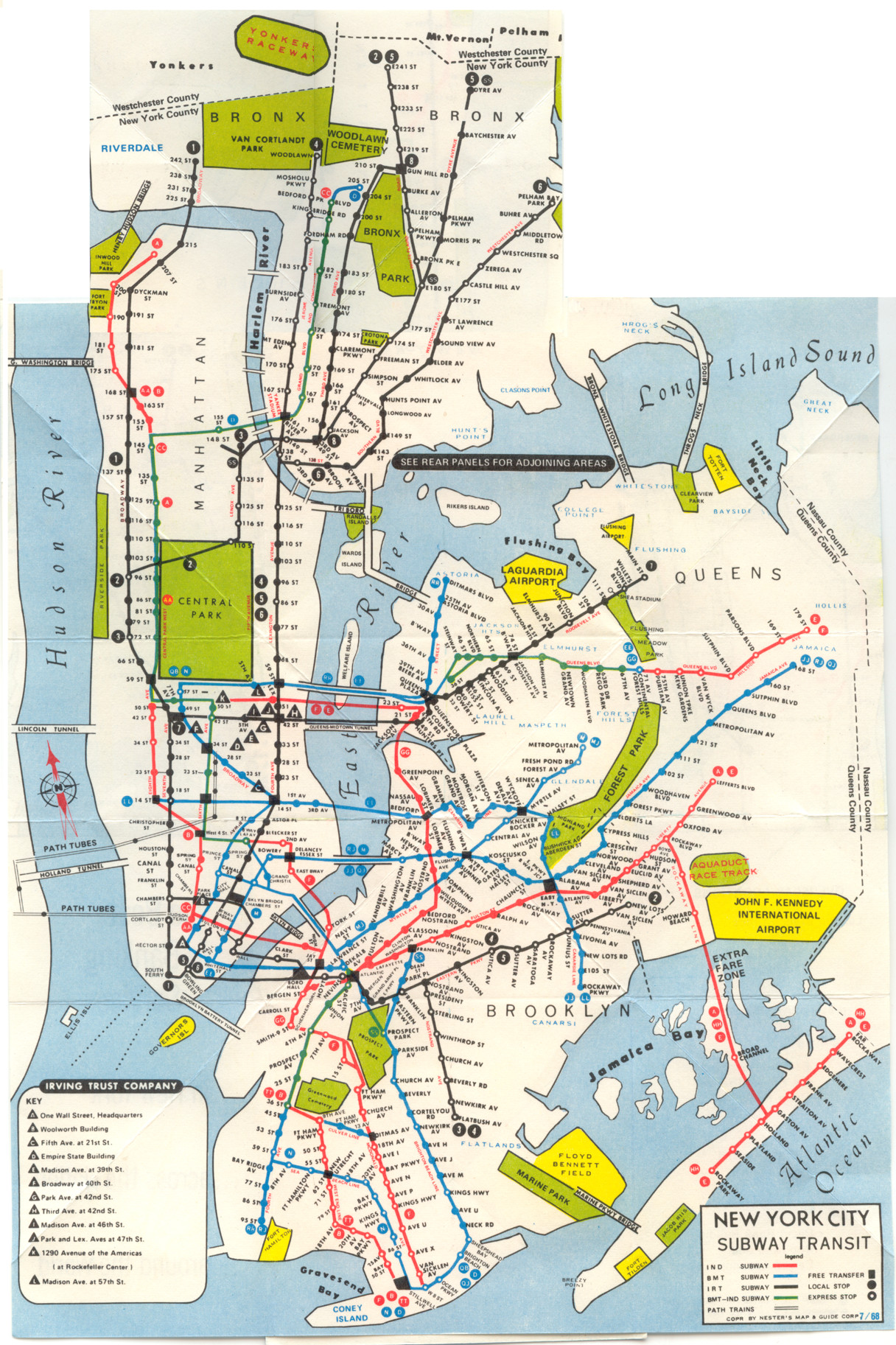 Printable Map New York City Awesome 1968 New York System Map New York City Pinterest