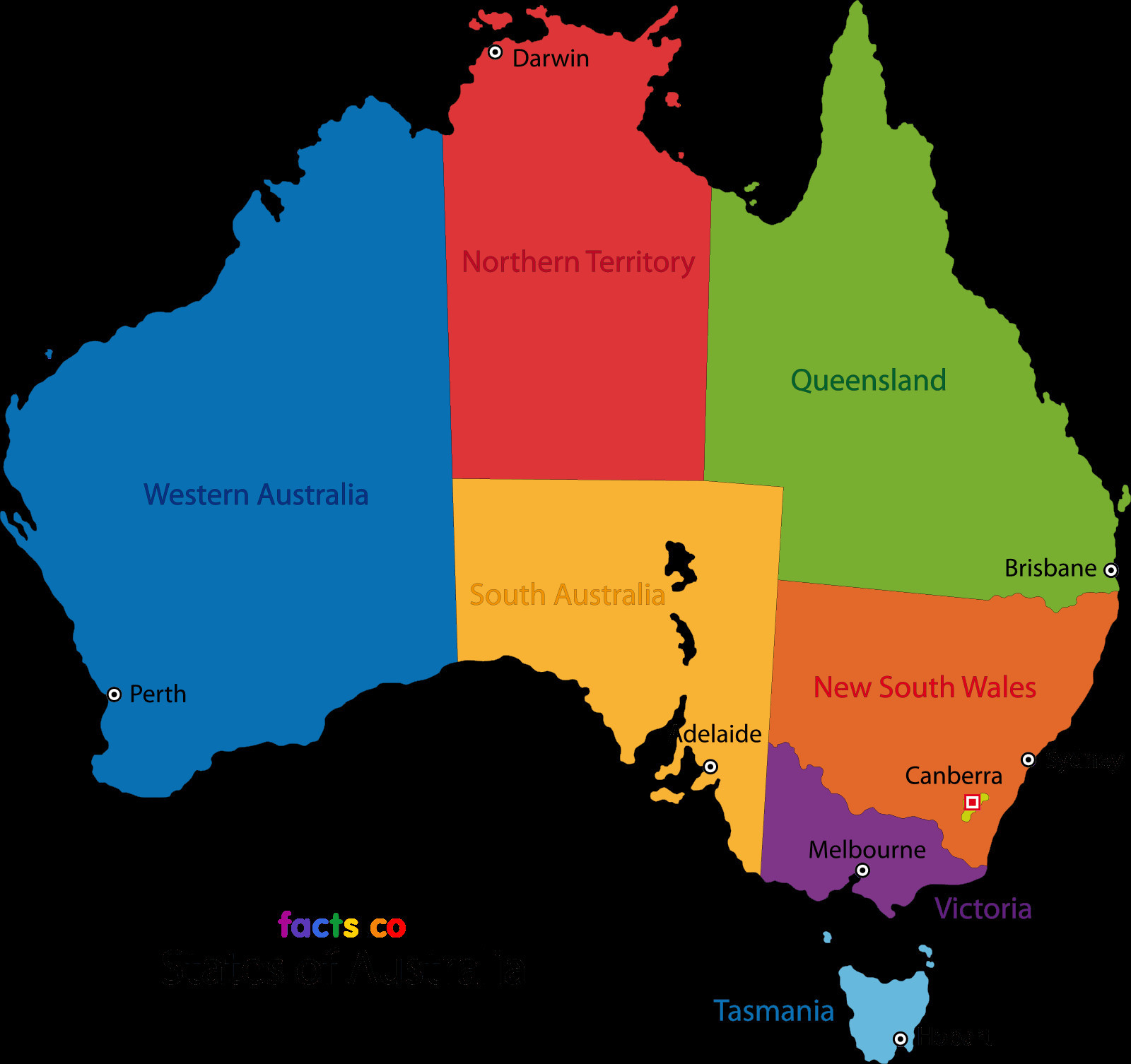 Stock Australia Map Outline with States – Map New Zealand And