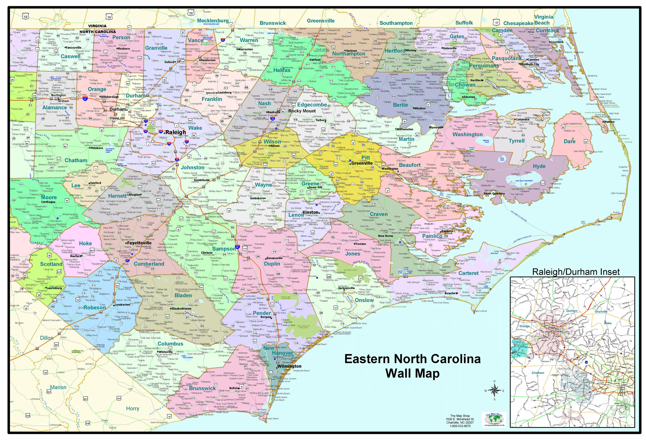Carolina Political Map
