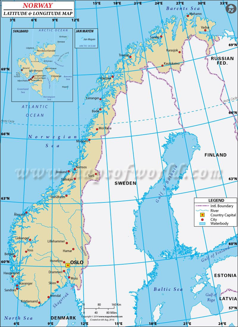 Printable Map Norway New Best Site For Latitude And Longitude Maps Norway