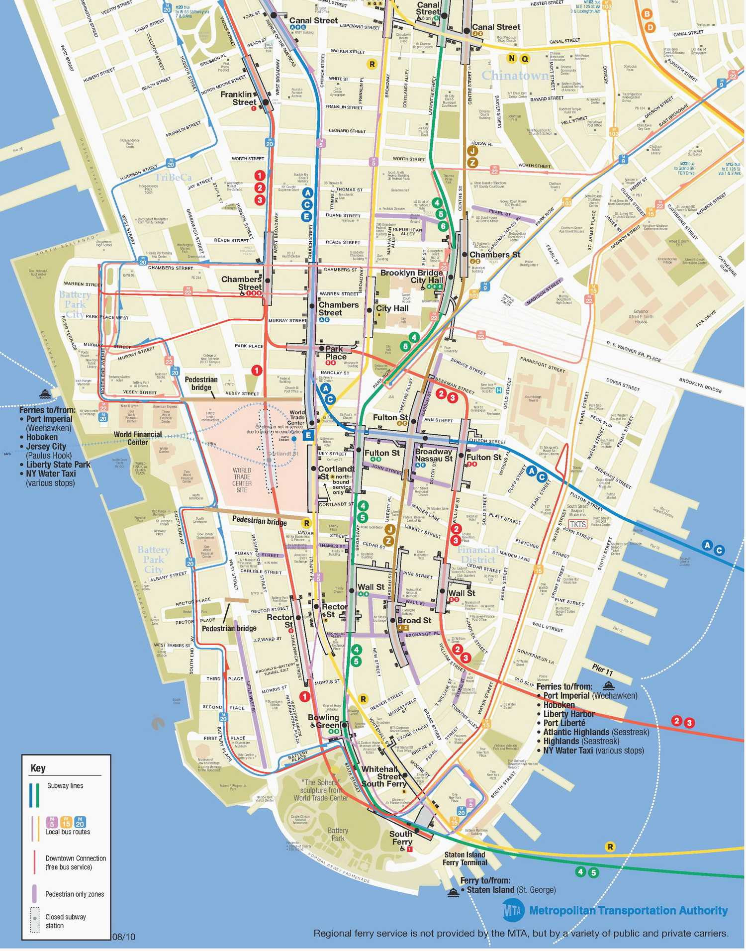 Awesome Nyc attractions Map