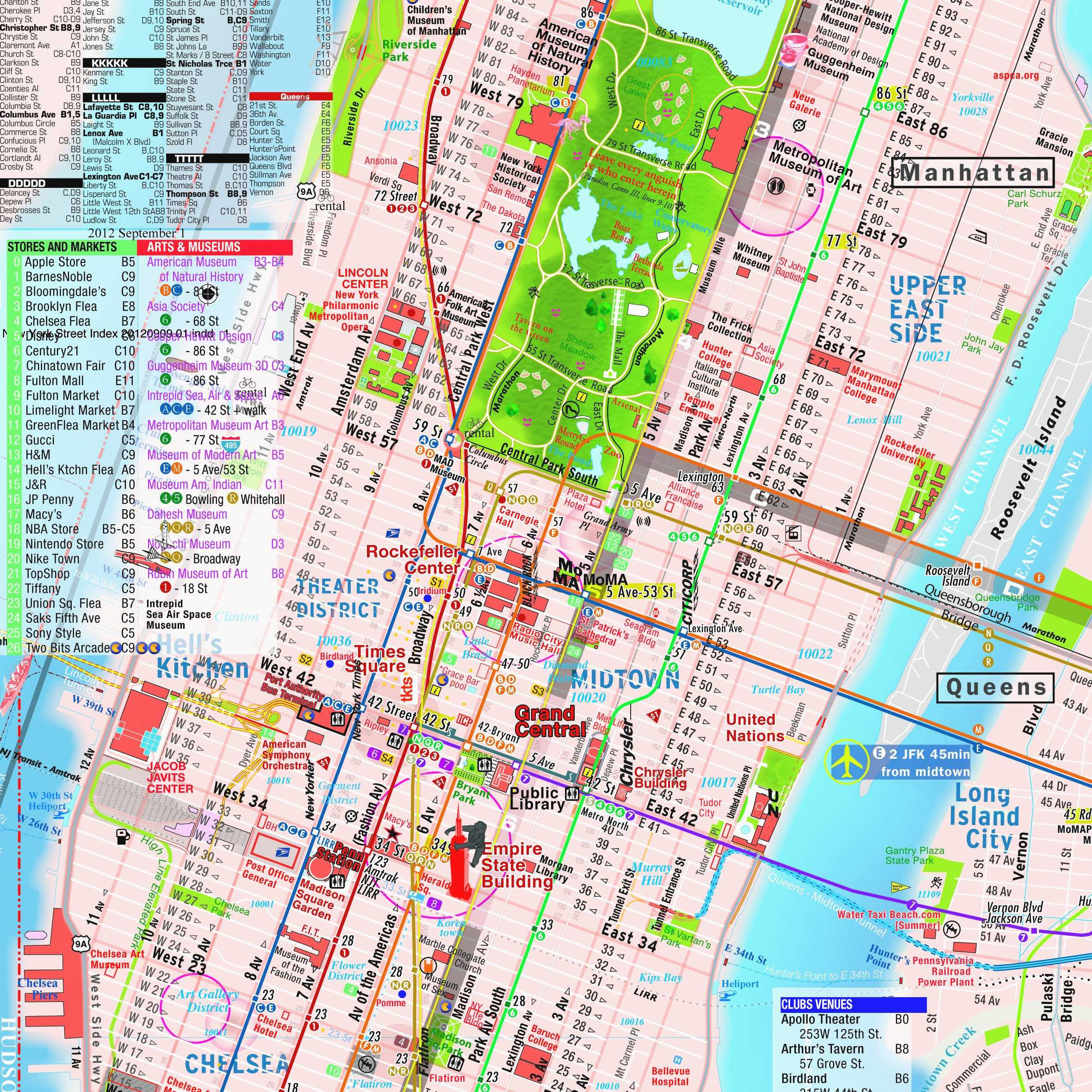 Printable Map Nyc Fresh Awesome Nyc Attractions Map