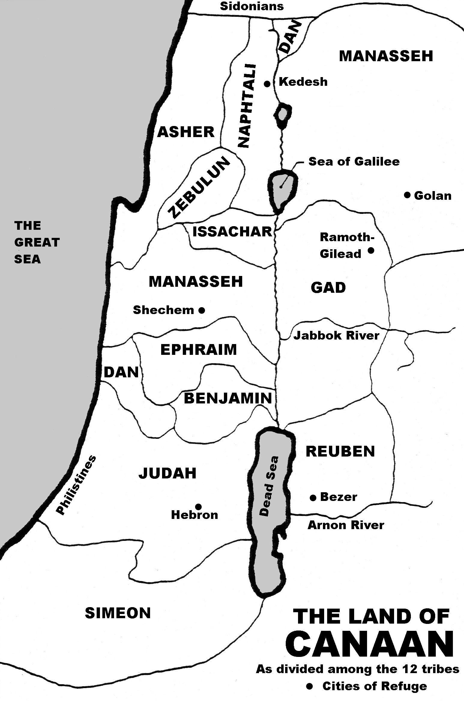 Printable Map Of 12 Tribes Of israel Awesome Map Of Canaan 12 Tribes