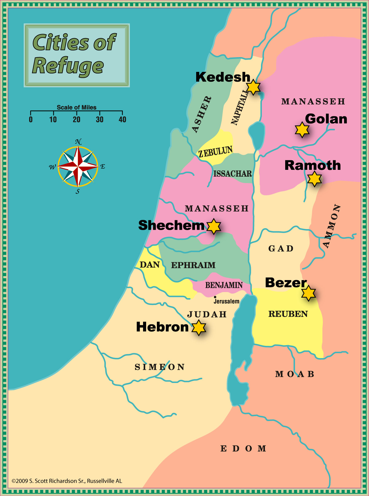"Printable Map Of 12 Tribes Of Israel Elegant Then The Lord Said To Joshua ""say To The People Of Israel Appoint"