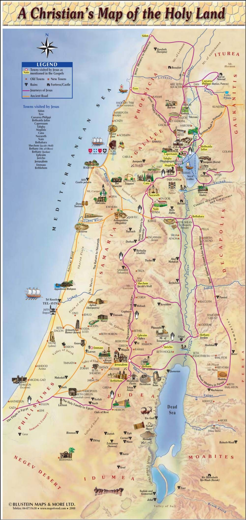 Maps of Israel Group Travel to Israel Pinterest