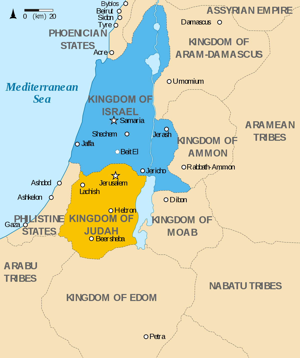 Printable Map Of 12 Tribes Of Israel New Kingdom Of Judah