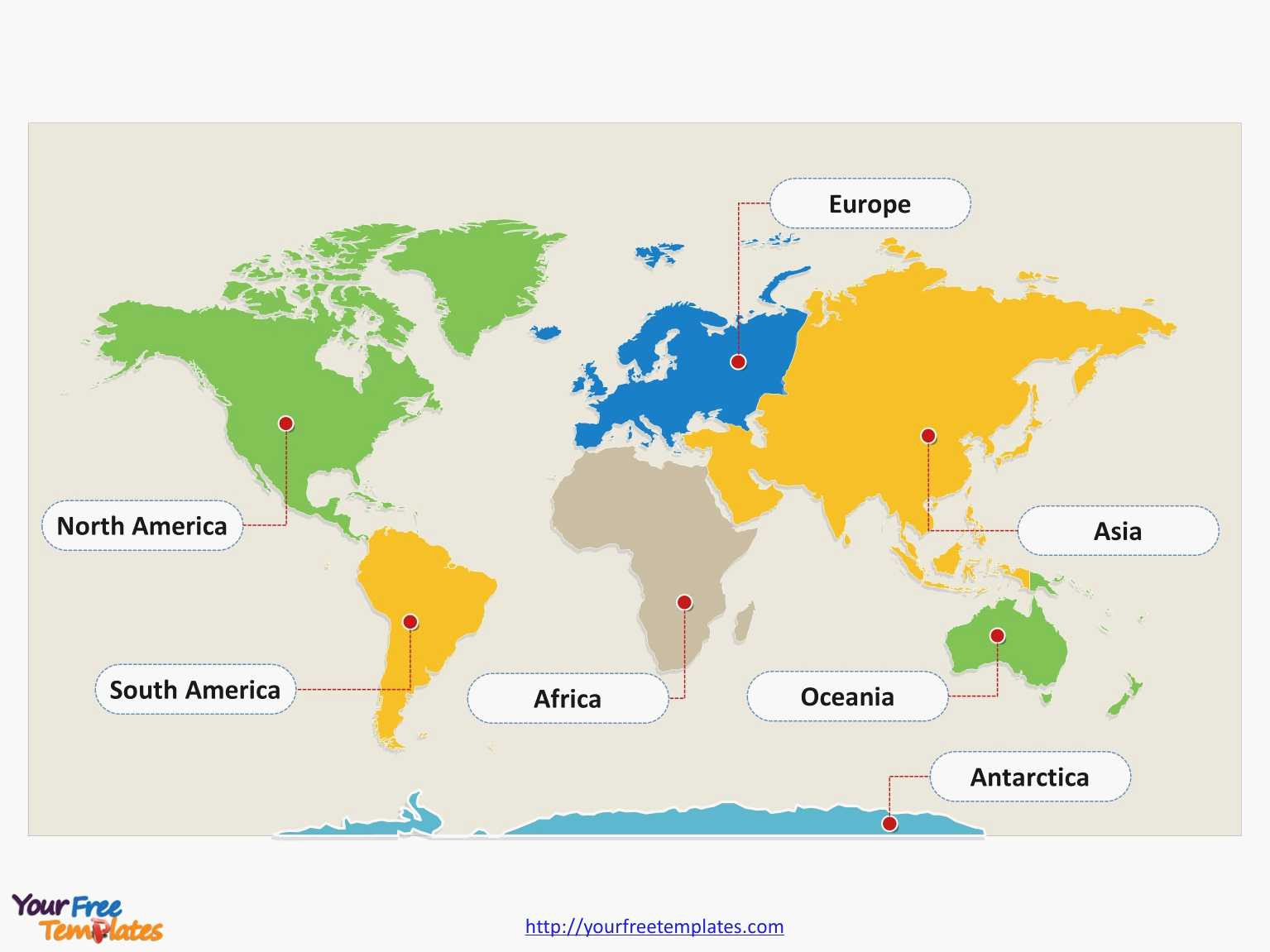 Great World Map Continents