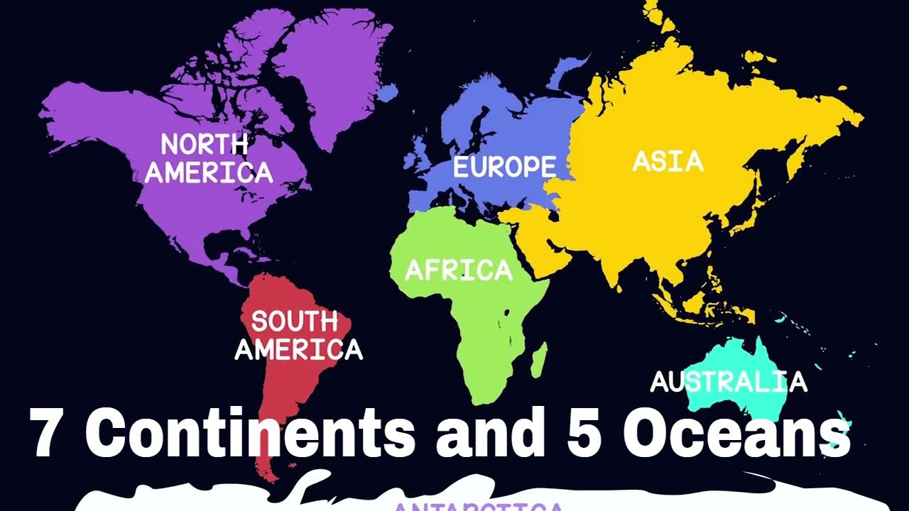 Printable Map Of 5 Oceans and 7 Continents Lovely What are the 7 Continents From Biggest to Smallest In World Map
