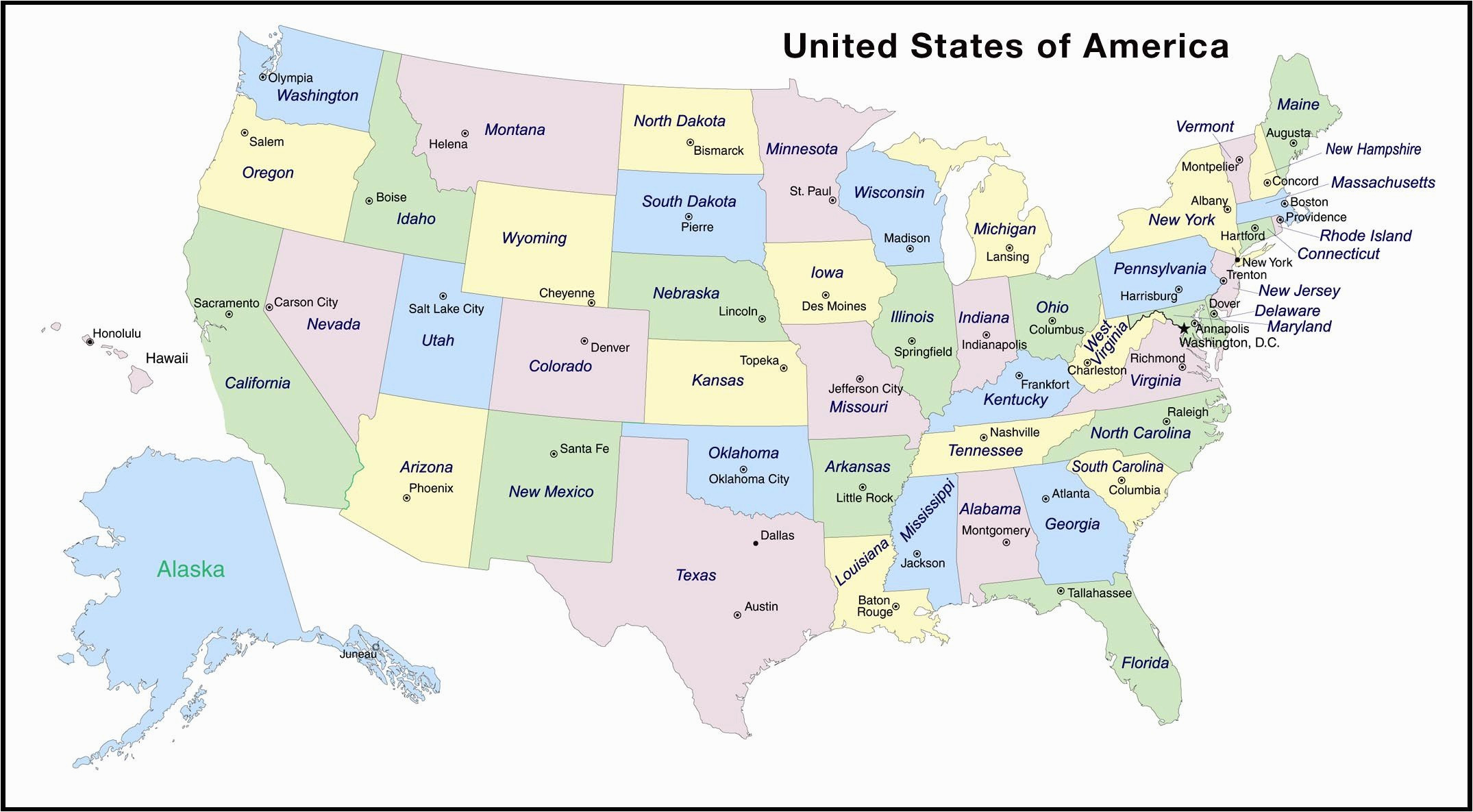 Printable Map Of 50 States And Capitals Inspirational States And Capitals The United States Labeled Map Map The