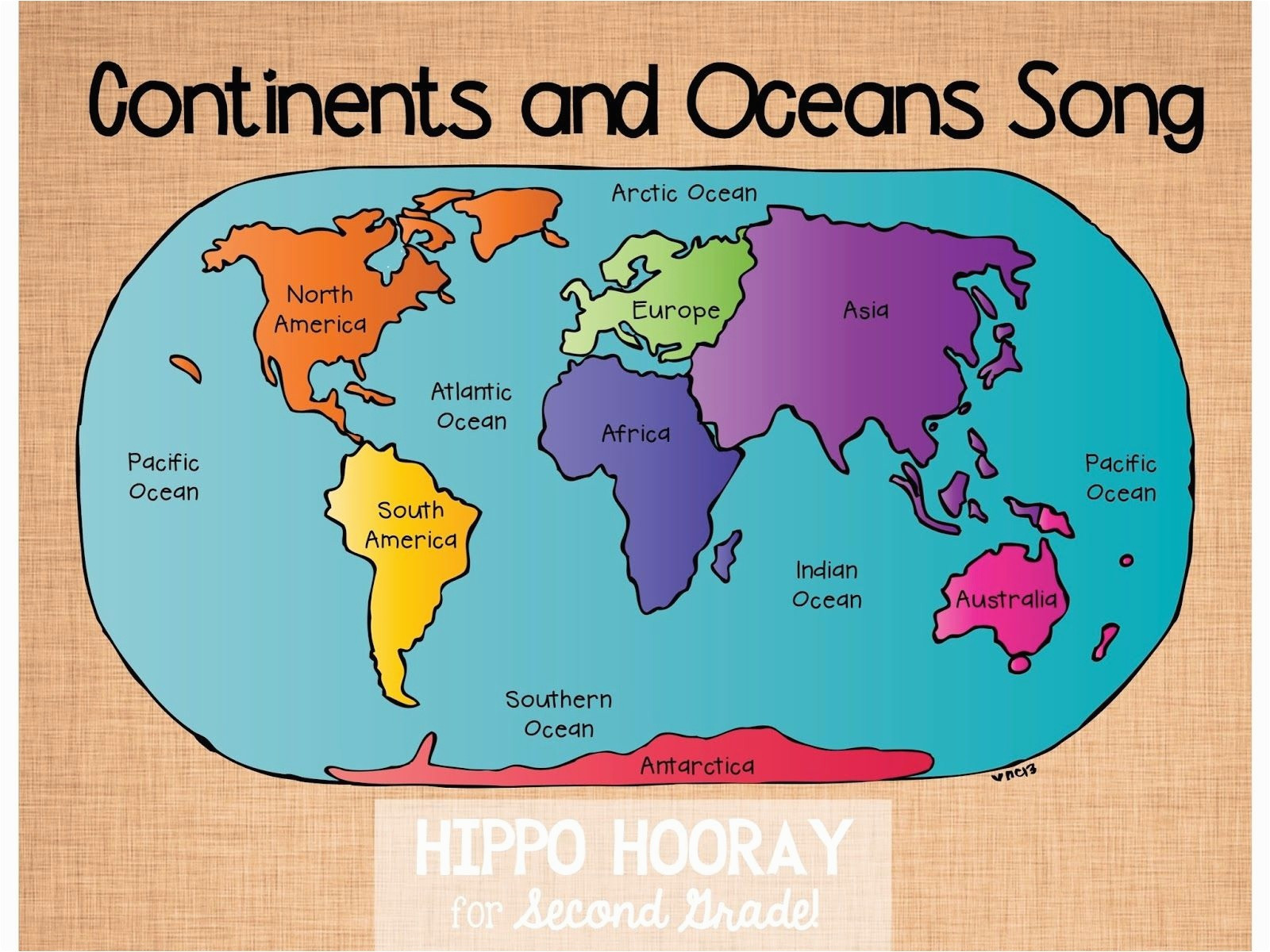 10 Fresh Printable Map Of 7 Continents and 5 Oceans