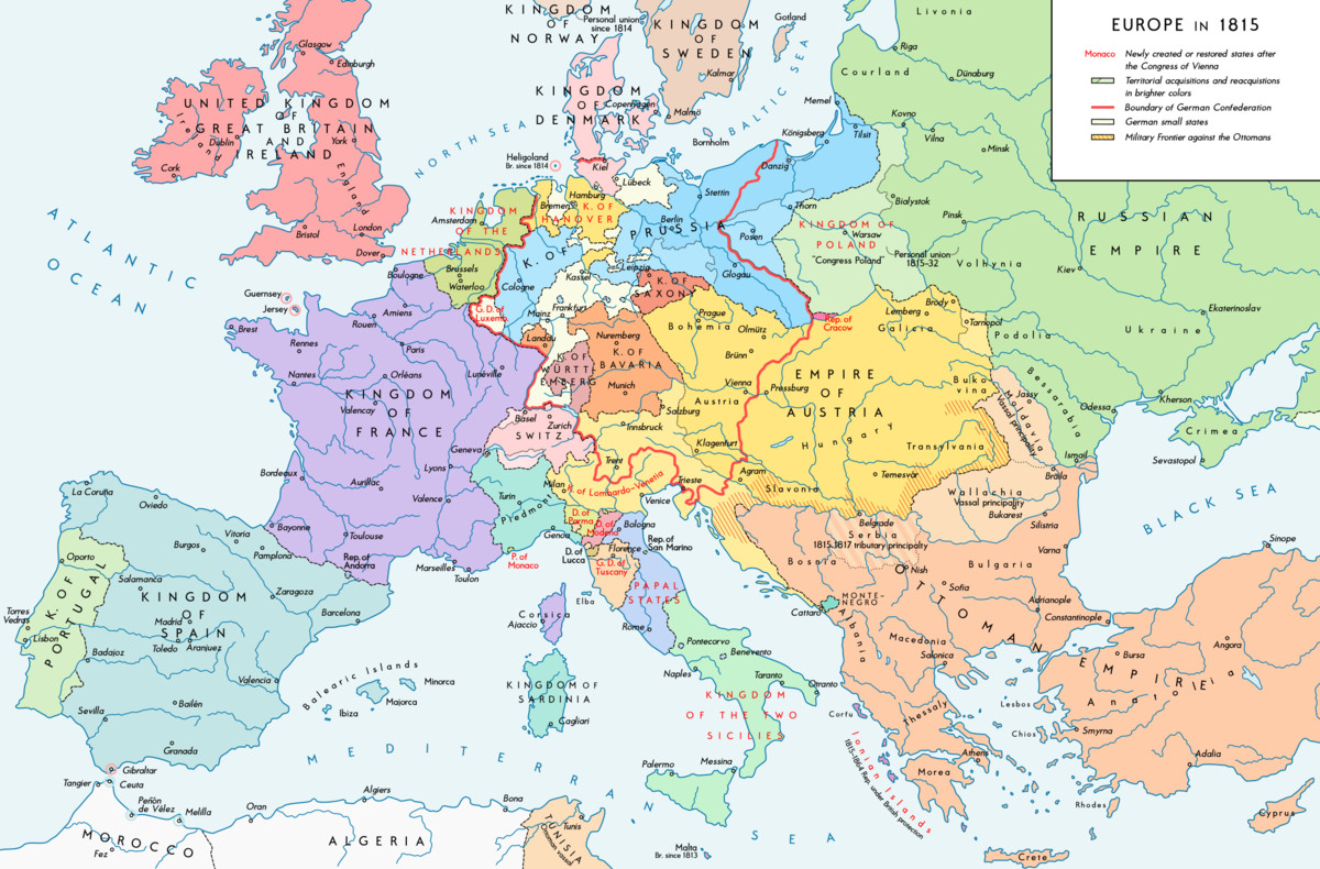 Printable Map Of Europe 1939 Unique Former Countries In Europe After 1815