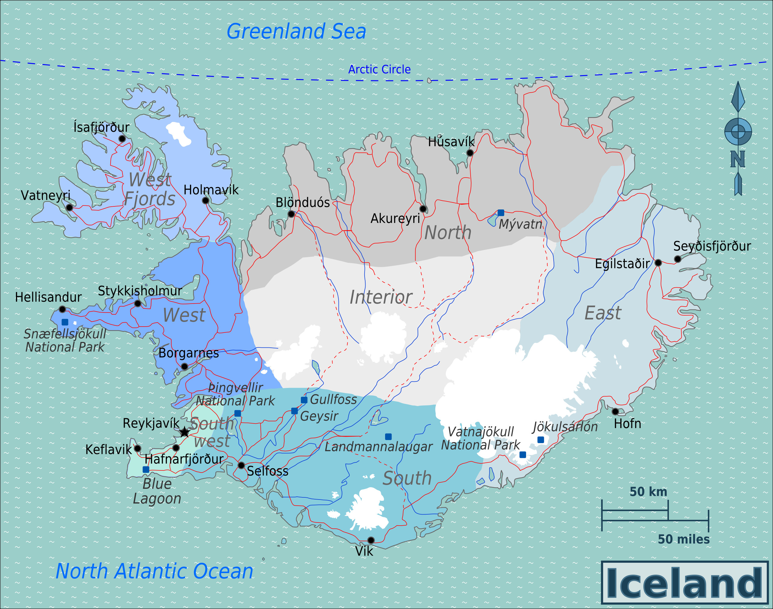 File Iceland Regions map 2 Wikimedia mons