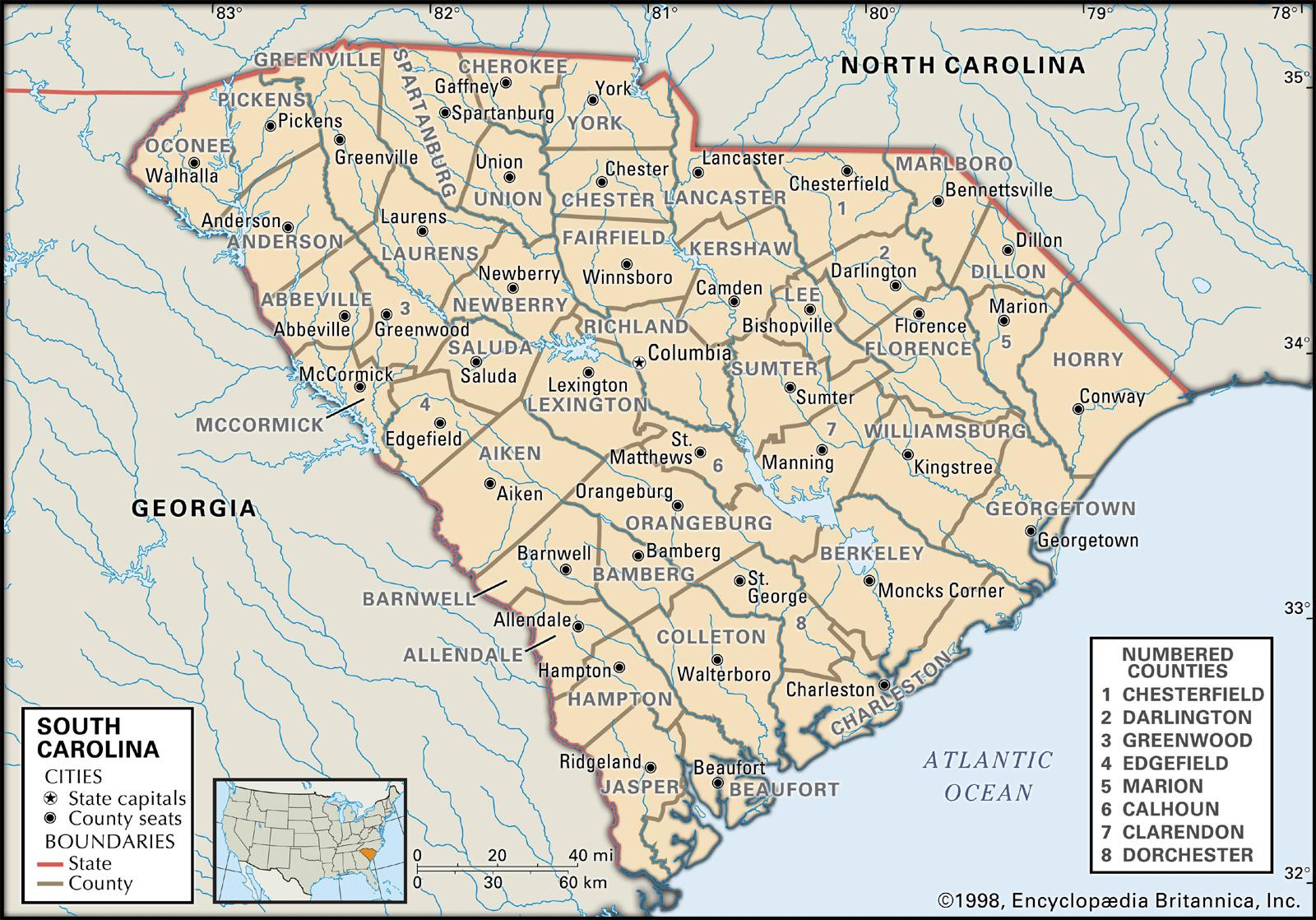 Printable Map Of North Carolina Lovely State And County Maps Of South Carolina