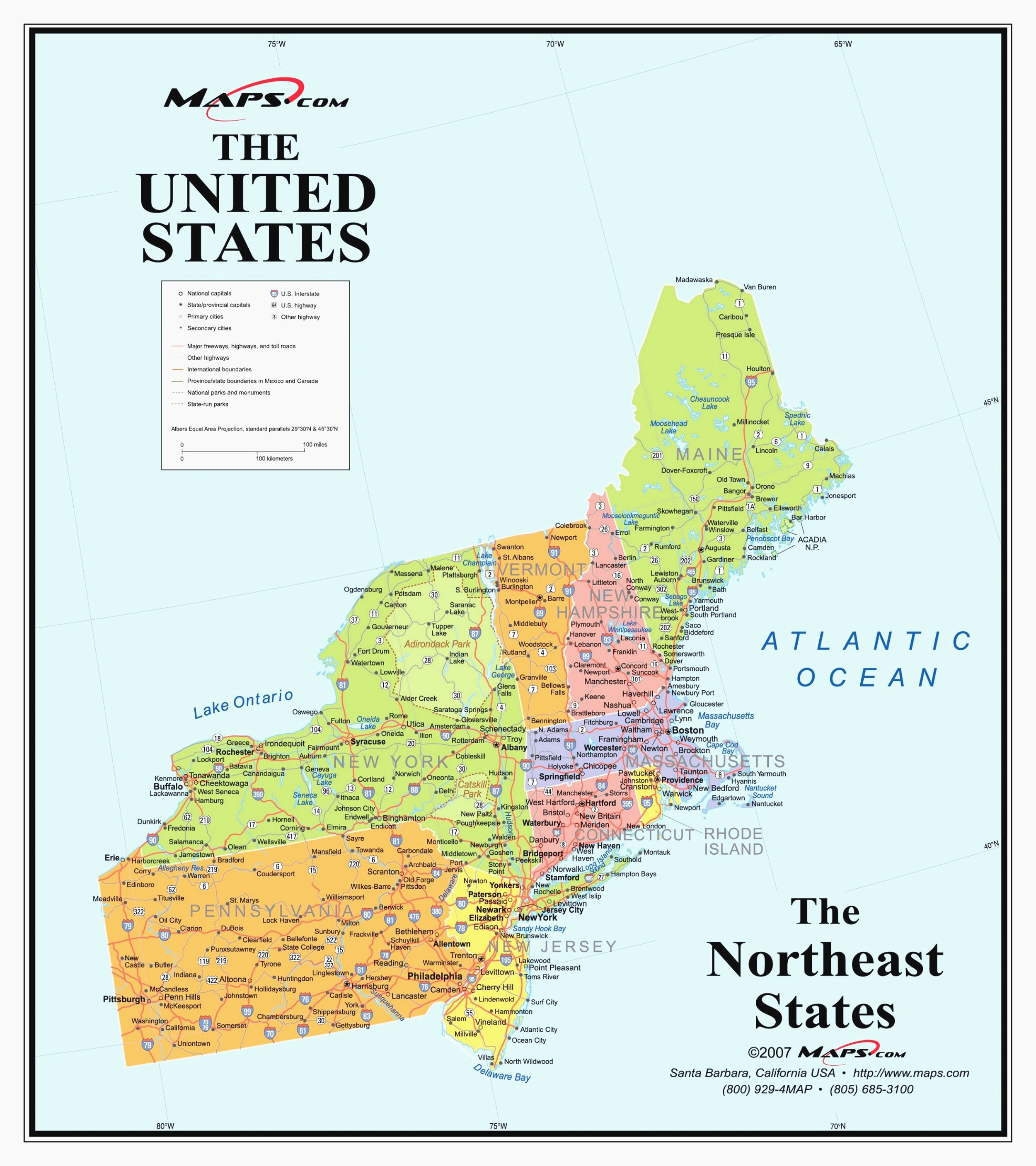 Printable Map Of North Eastern United States Unique New Blank Us Map Northeast States Wp Landingpages