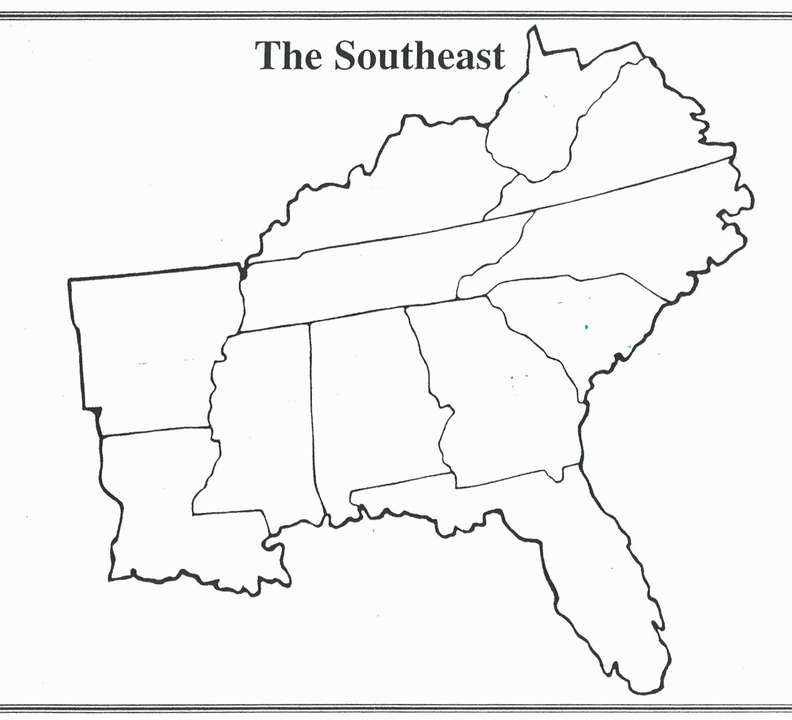Printable Map Of The Southeastern United States Awesome Blank Map Southeastern United States Best United States Map