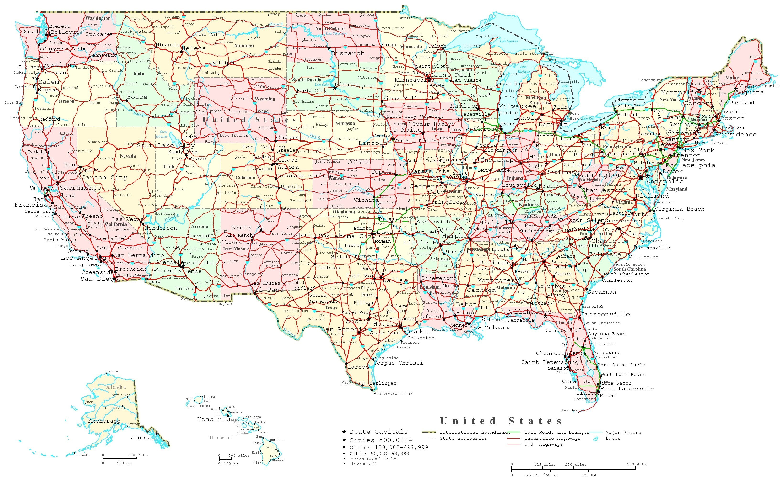 Printable Map Of The United States Highways Elegant Map Usa States Cities Printable Save United States Map Printable