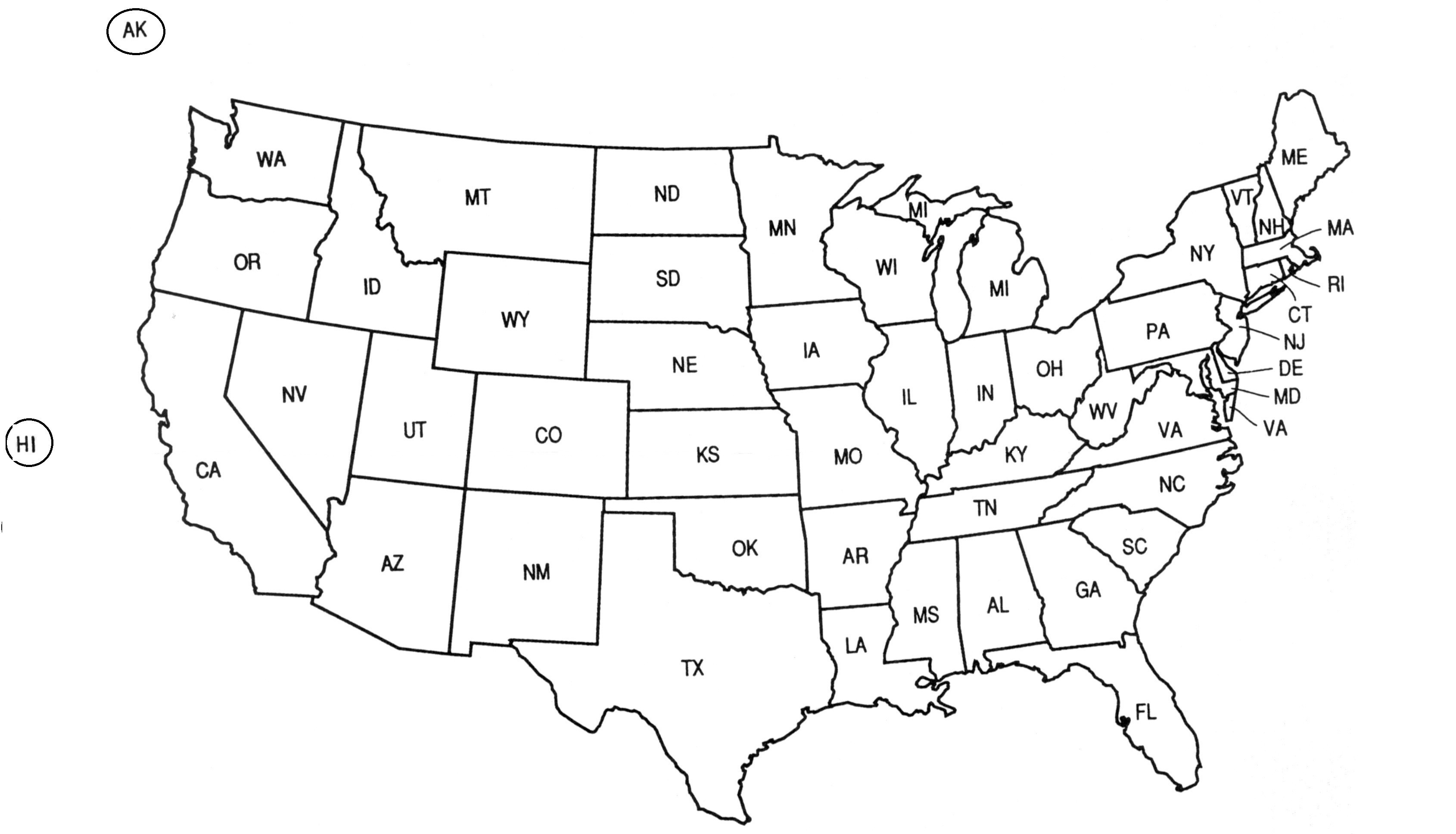 Printable Map Of The United States In Black And White Elegant Us Map W State Abbreviations Us Map Abbreviations Us Map Valid