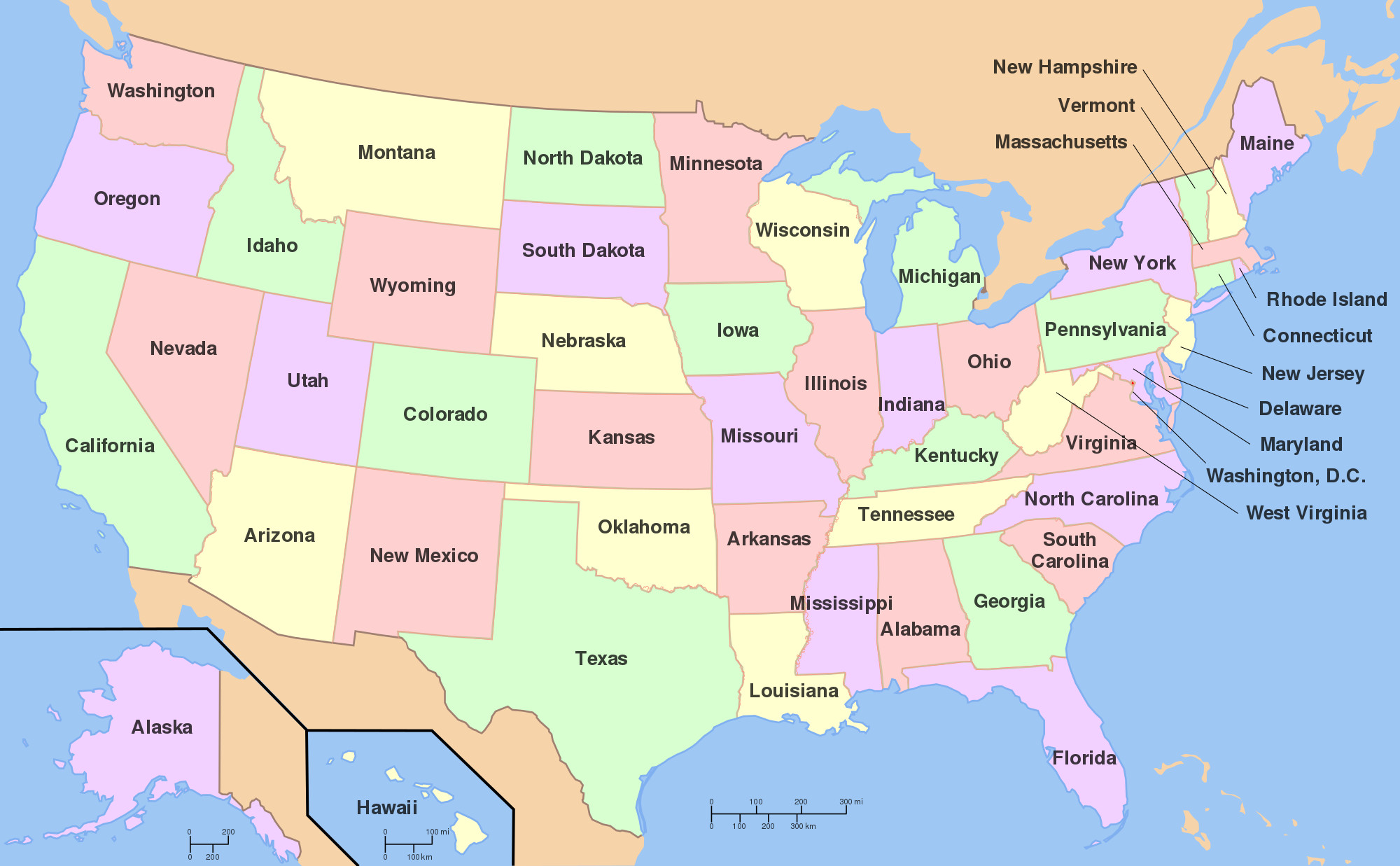 Printable Map Of The United States Labeled Awesome File Map Of Usa With State Namesg Wikimedia Mons
