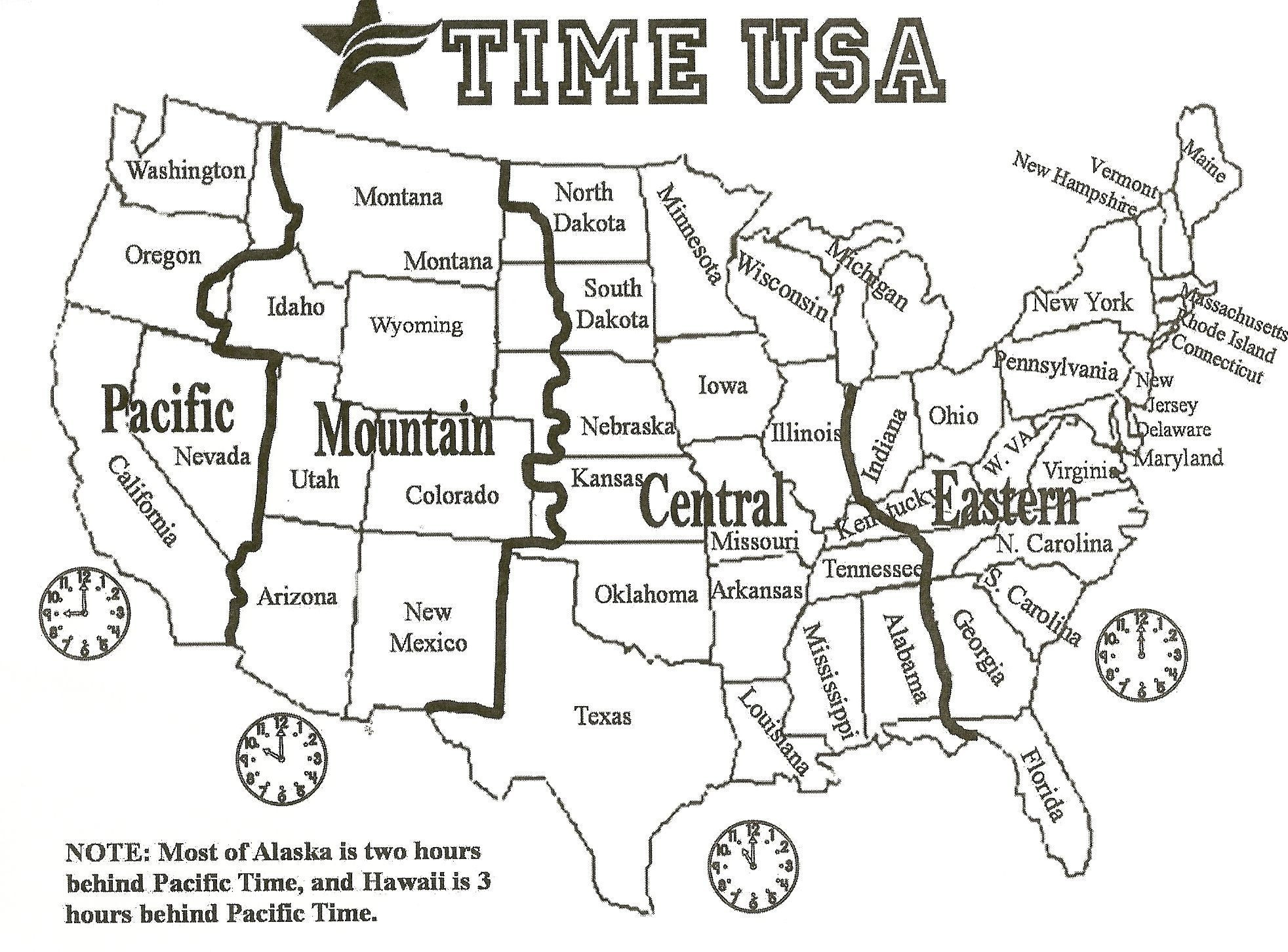 Printable Map Of The United States Time Zones Best Of Printable Us Timezone Map With Cities Refrence World Atlas Us Time