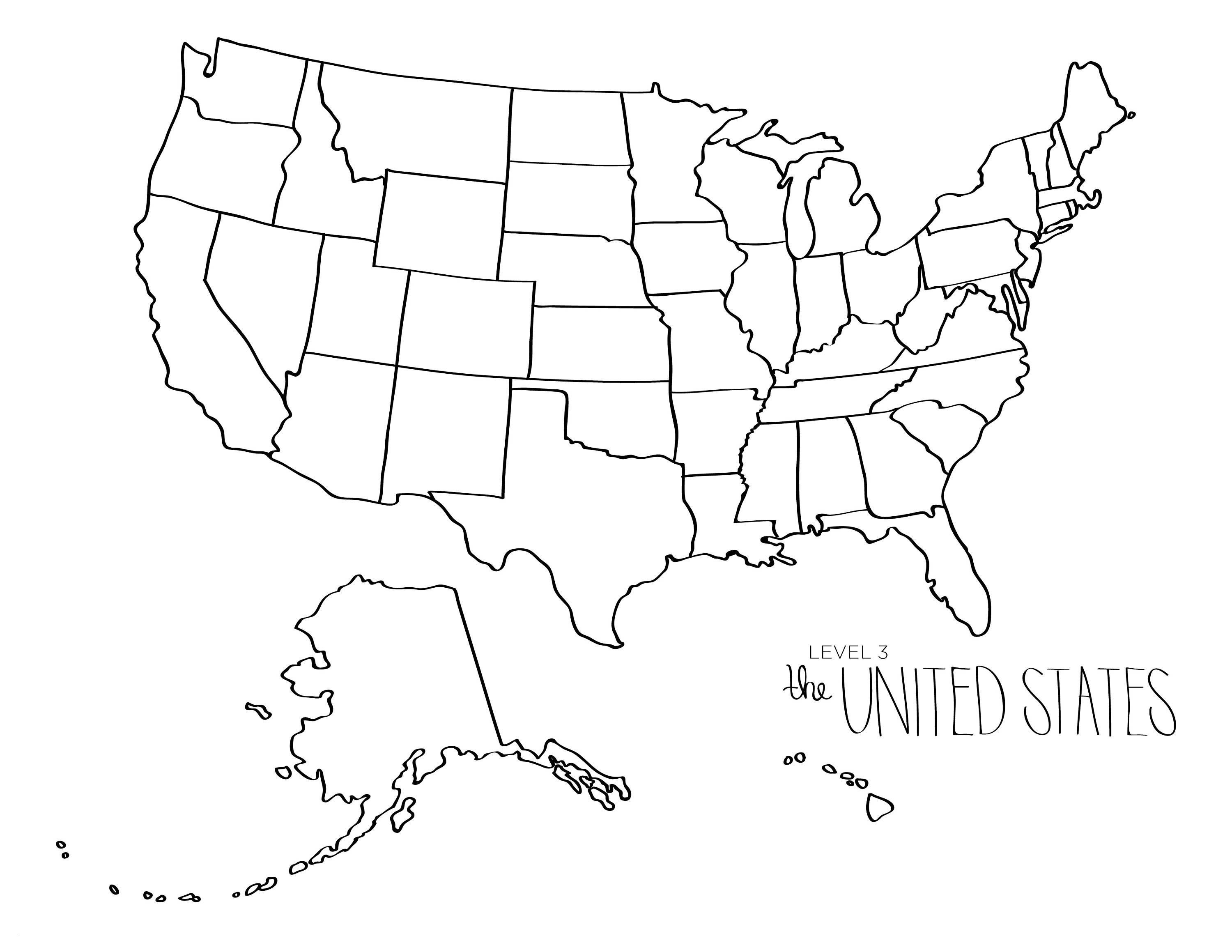 Printable Map Of the United States to Color Best Of United States Blank Map Printable Save United States Map Coloring