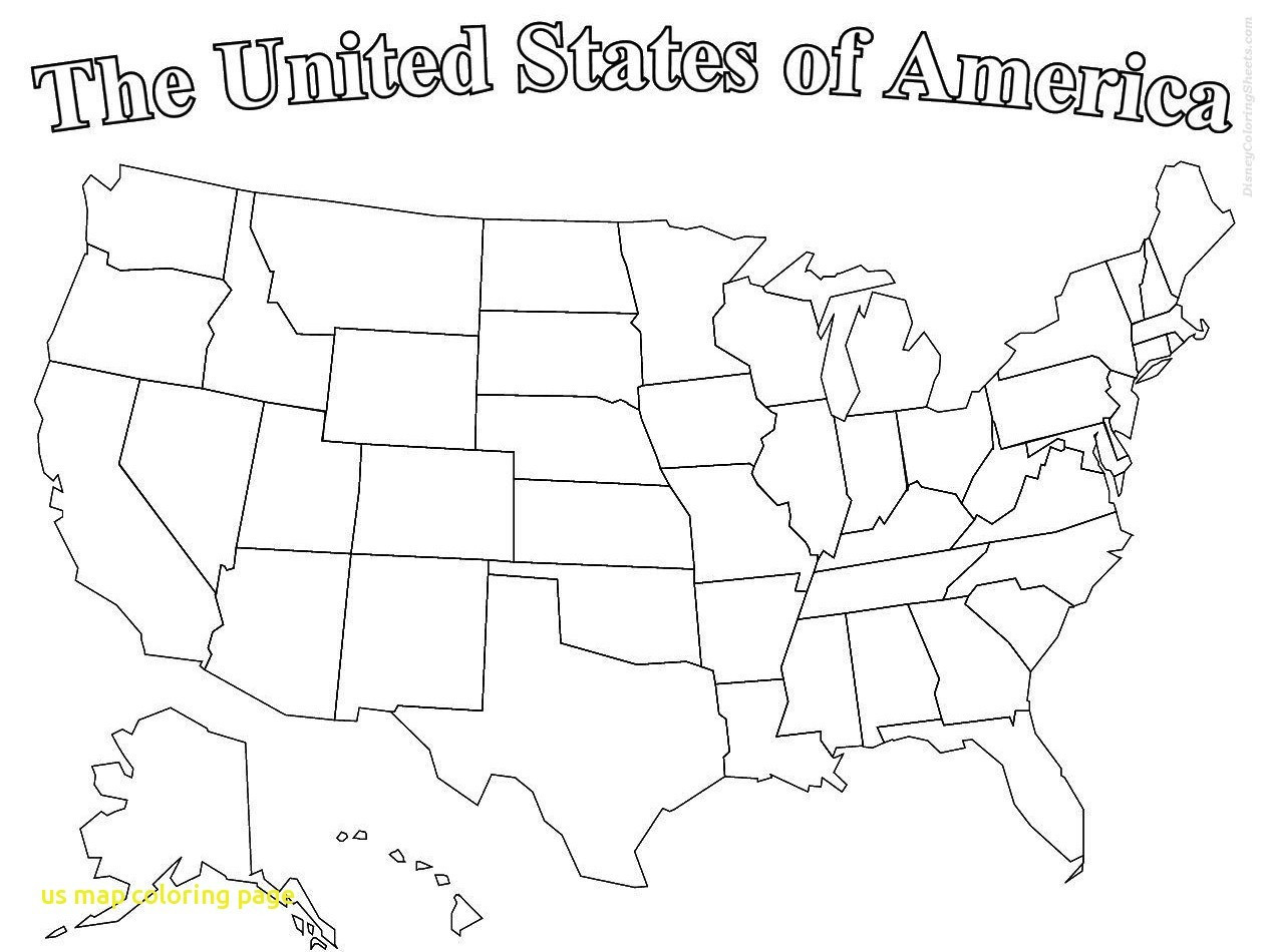 Printable Map Of The United States To Color Fresh Us Map Coloring Page Printable With State Names Line Free United