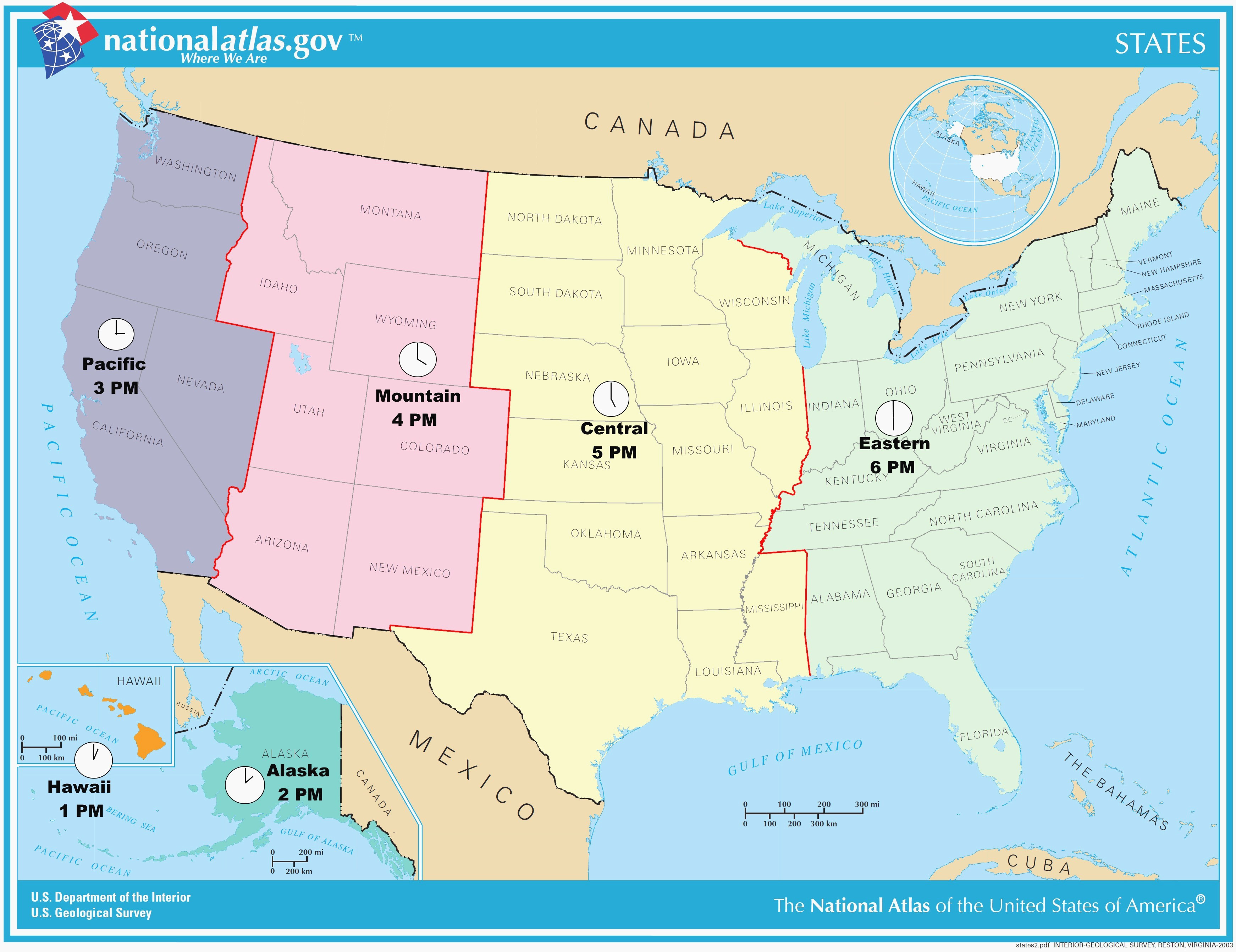 Us Time Zones Interactive Map Best United States Time Zones Map Free World atlas Us