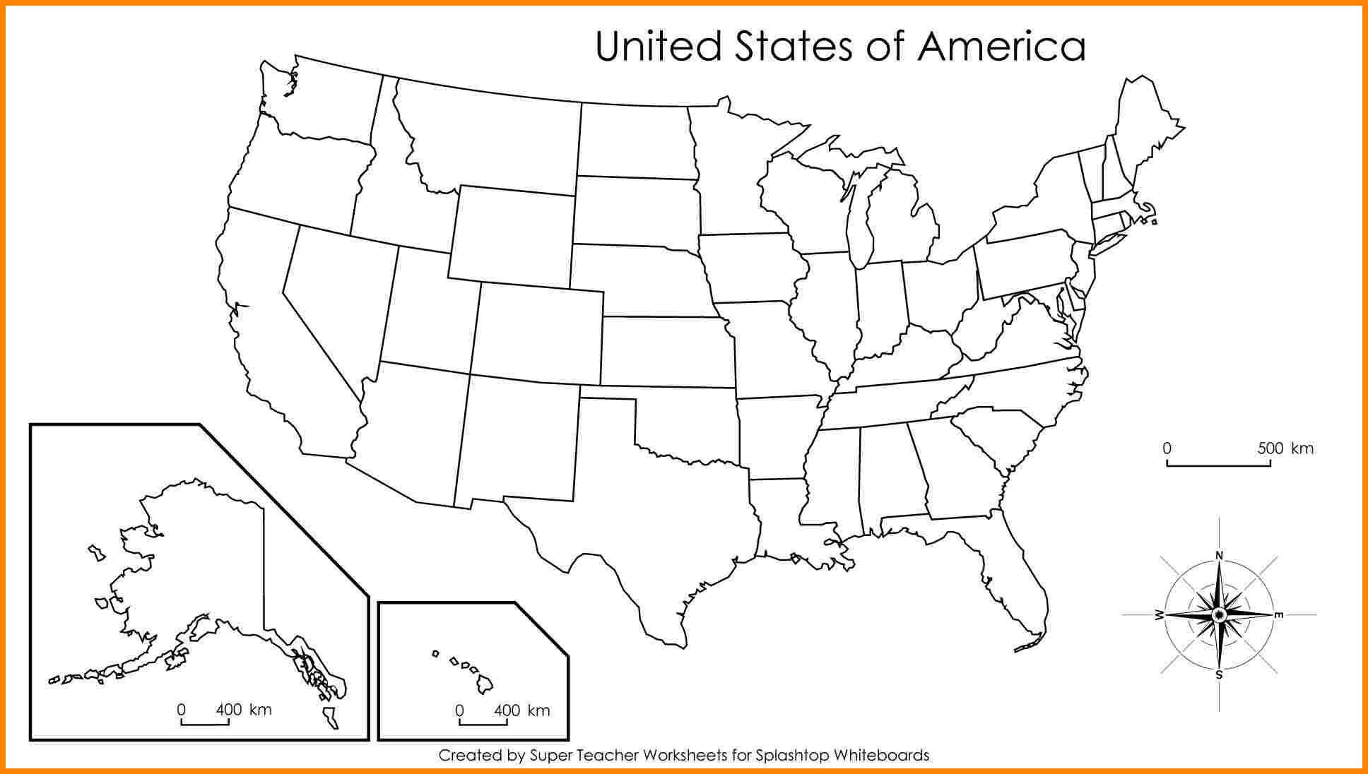 Printable Map Of United States Not Labeled New Maps United States Map Not Labeled Printable And With Us At For