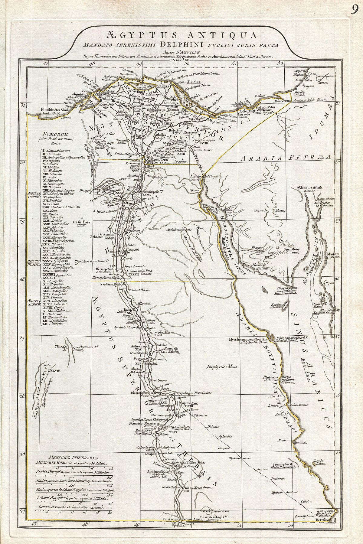 1200px 1794 Anville Map of Ancient Egypt Geographicus Egypt anville 1794