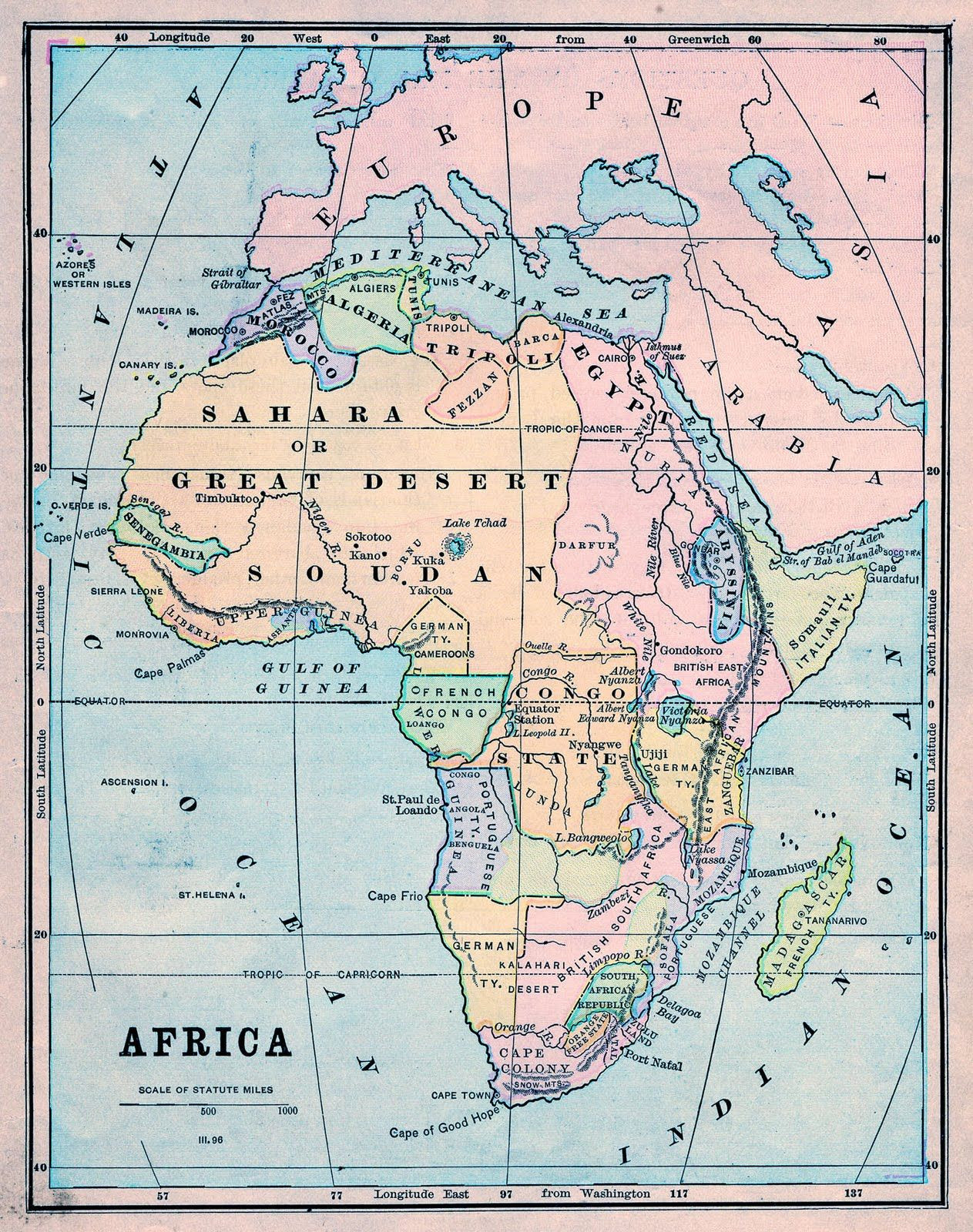 Thursday is Request Day Map of Africa Steampunk Globe Botanical