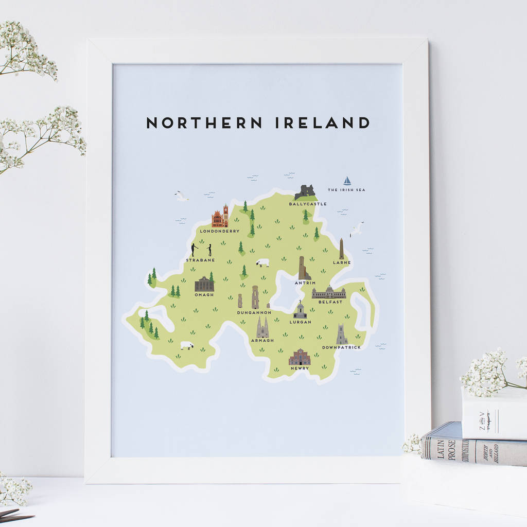 Printable Map Poster Fresh Map Of Northern Ireland Print By Pepper Pot Studios
