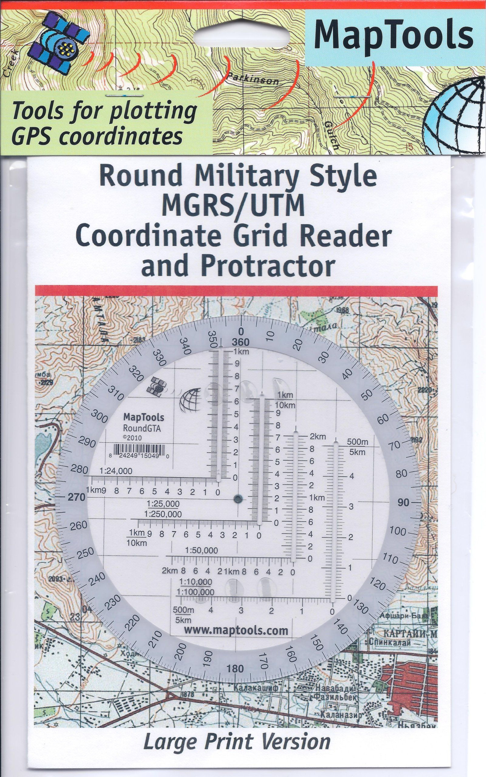 Printable Map Protractor Beautiful Amazon Map Tools Round Military Utm Mgrs Grid Reader