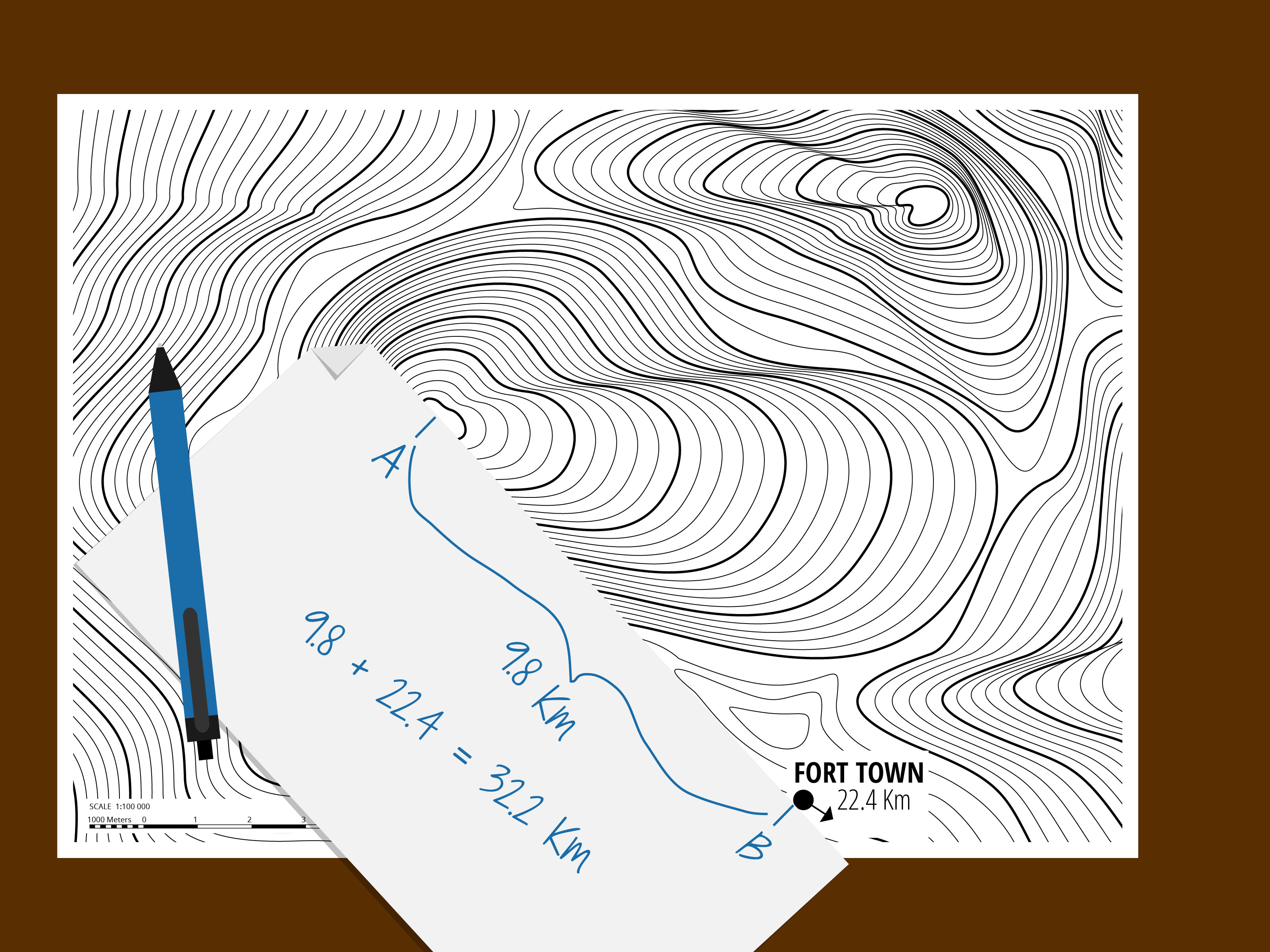 Printable Map Protractor Fresh 3 Ways to Measure A Straight Line Distance Using A topo Map