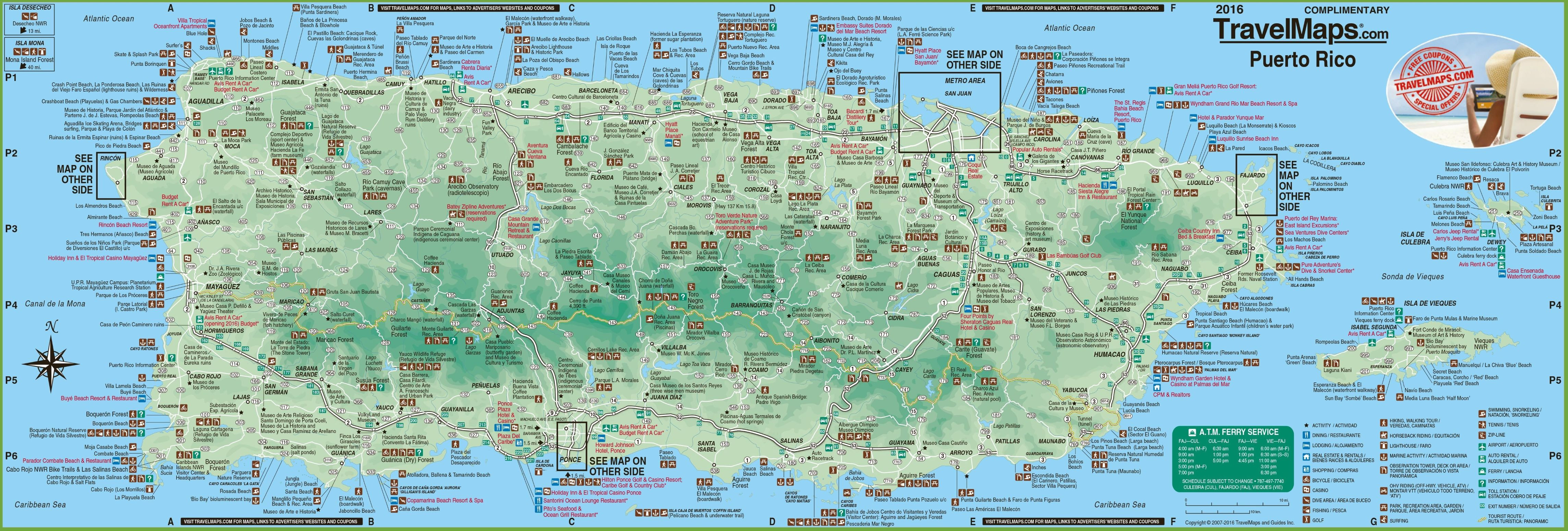 Printable Map Puerto Rico Luxury Dominican Republic Puerto Rico Map Recent Detailed Tourist Map