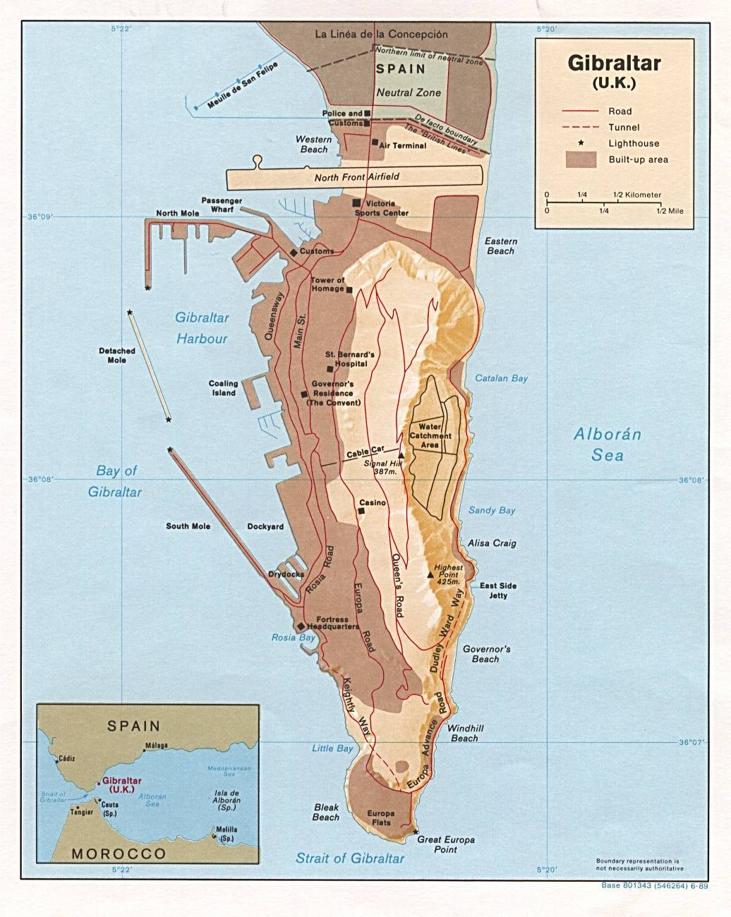 Gibraltar Maps for Free Download and Print