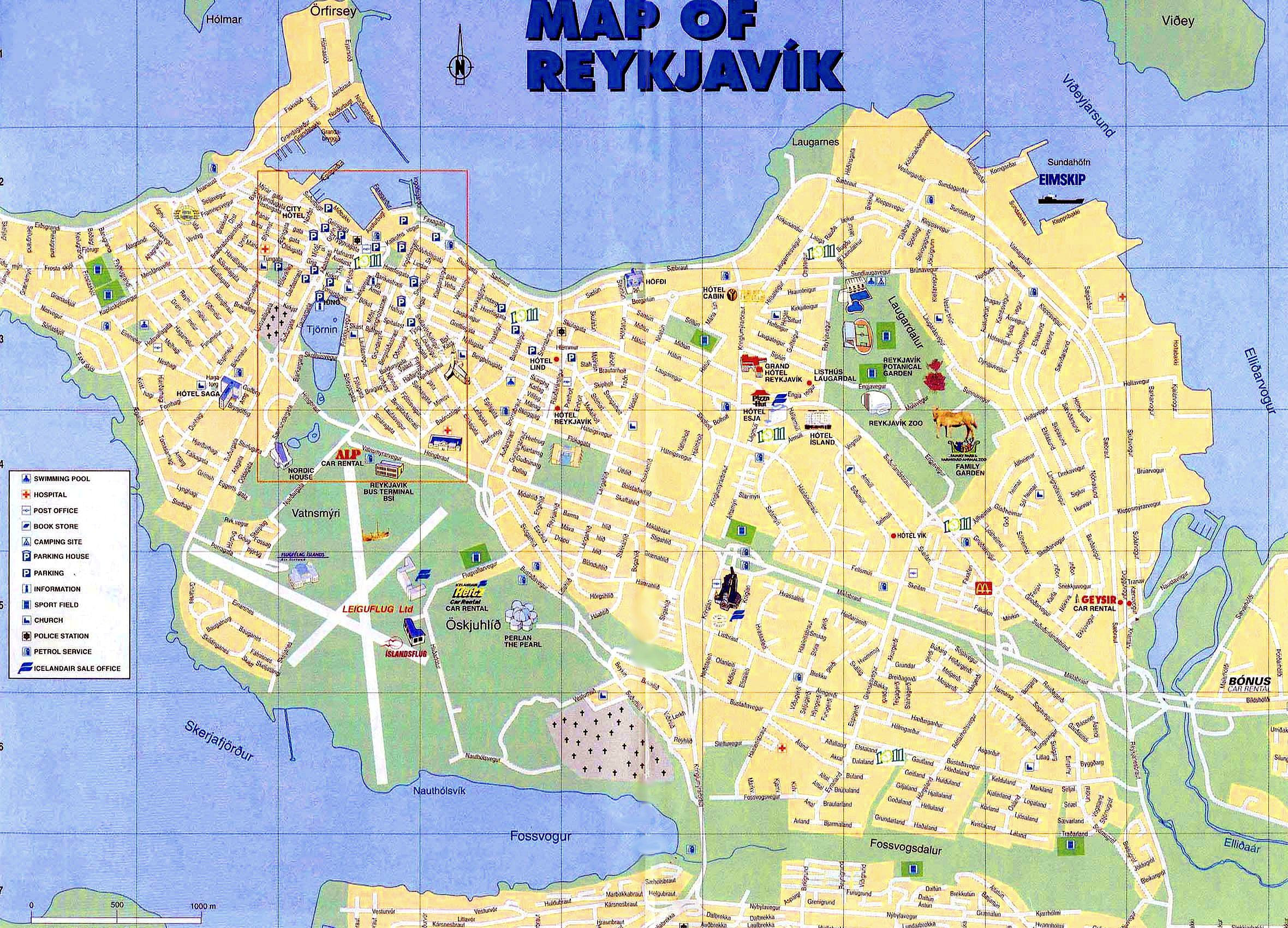 Printable Map Reykjavik Unique The Best Free Things In Reykjavik Iceland