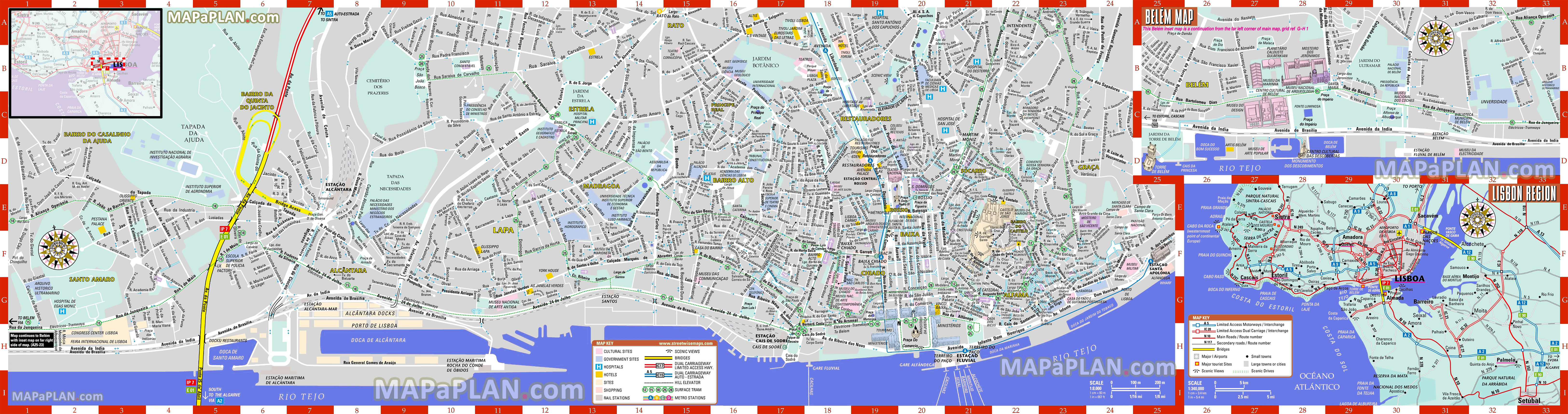 Printable Map Rome City Centre Inspirational Lisbon Maps Top Tourist Attractions Free Printable City Street Map