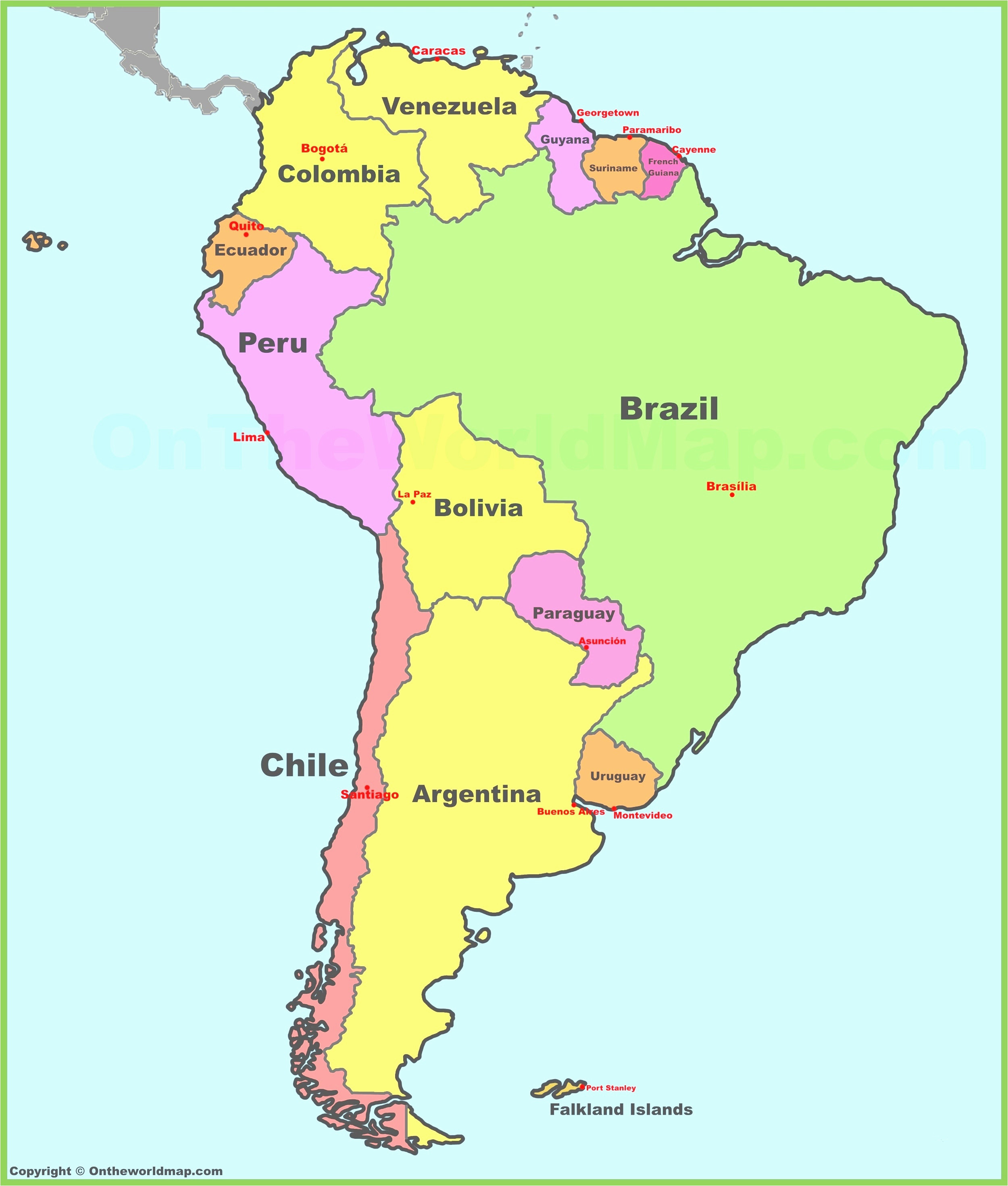 Printable Map south America Best Of north and Central America Countries Printables Map Quiz Game at