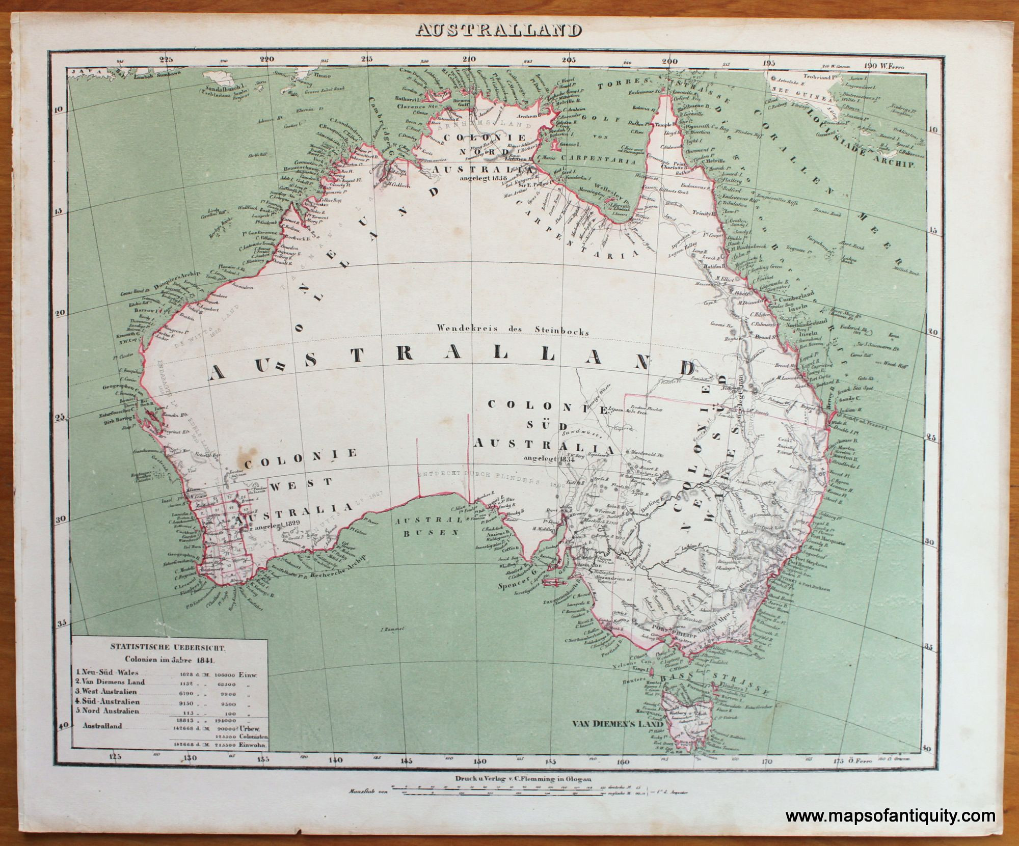 Printable Map Tasmania Elegant Australland Antique Maps And Charts – Original Vintage Rare
