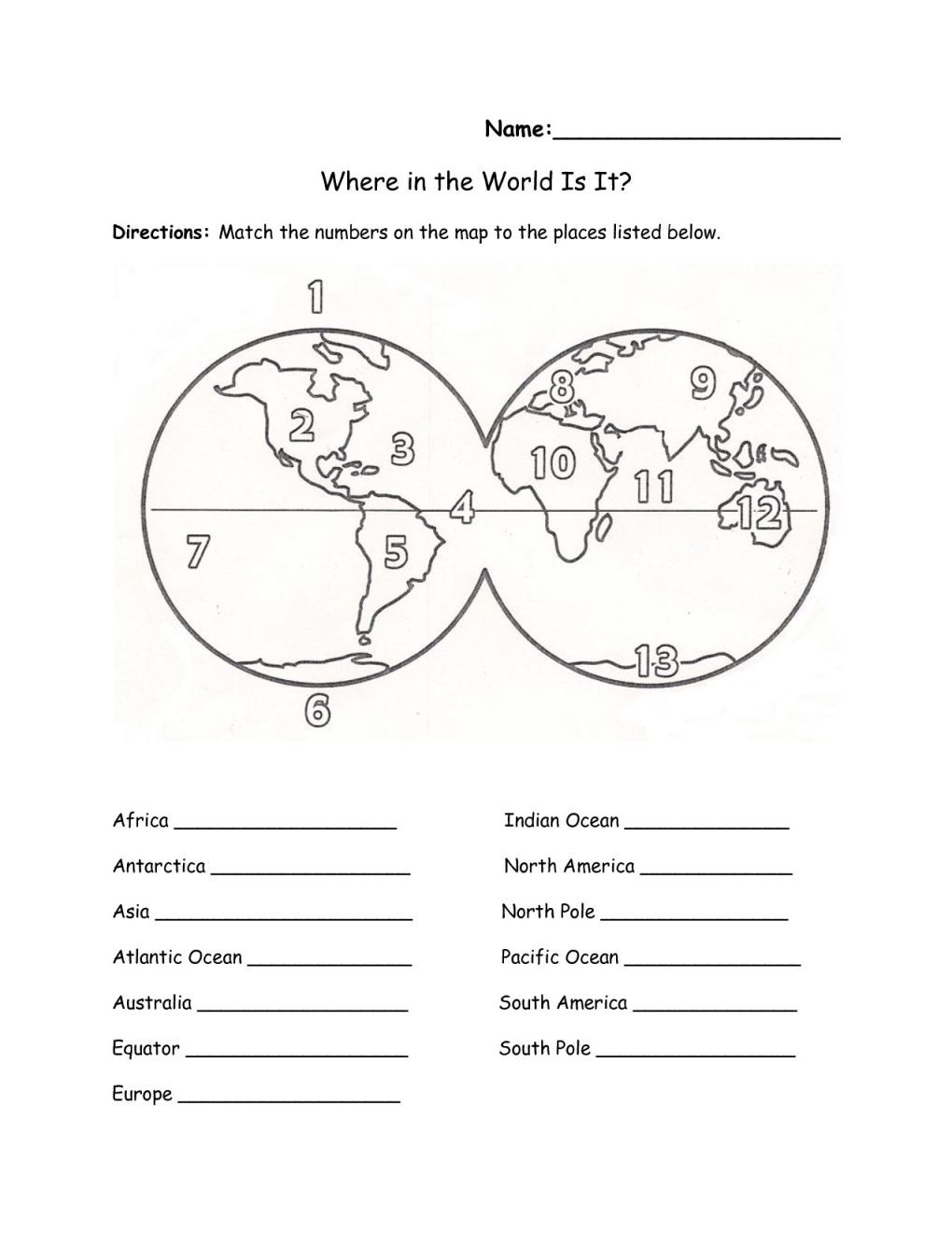 Printable Map To Label Continents And Oceans Fresh Fresh Continents And Oceans Worksheet Ra93 – Documentaries For Change