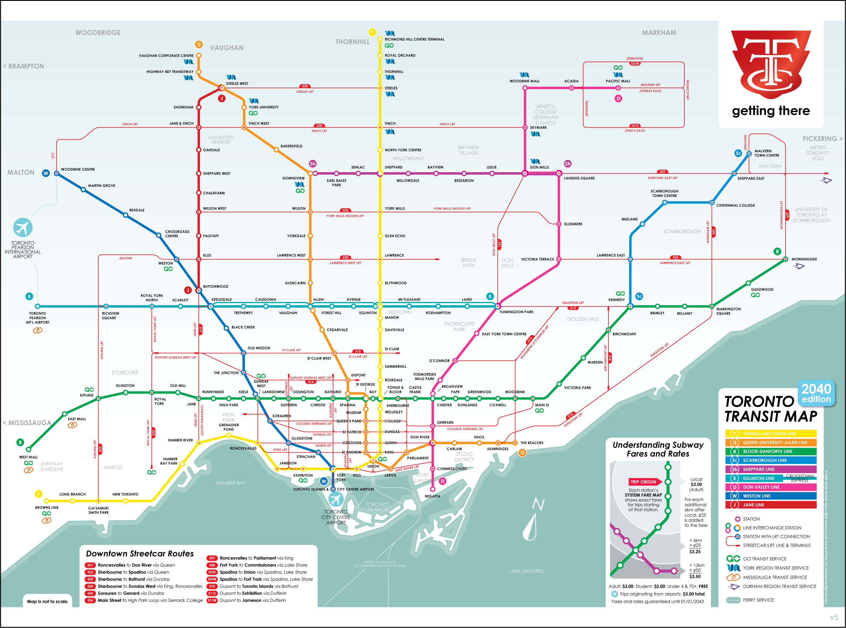 Printable Map toronto Inspirational Ttc 2040 Map Transit Pinterest