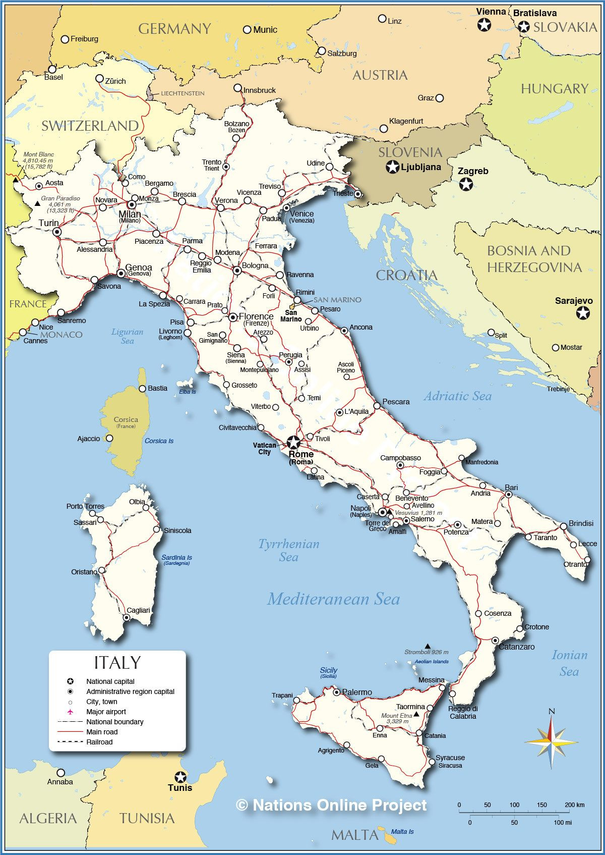 Printable Map Tuscany Luxury Detailed Map Of Italy Italy On My Mind Pinterest