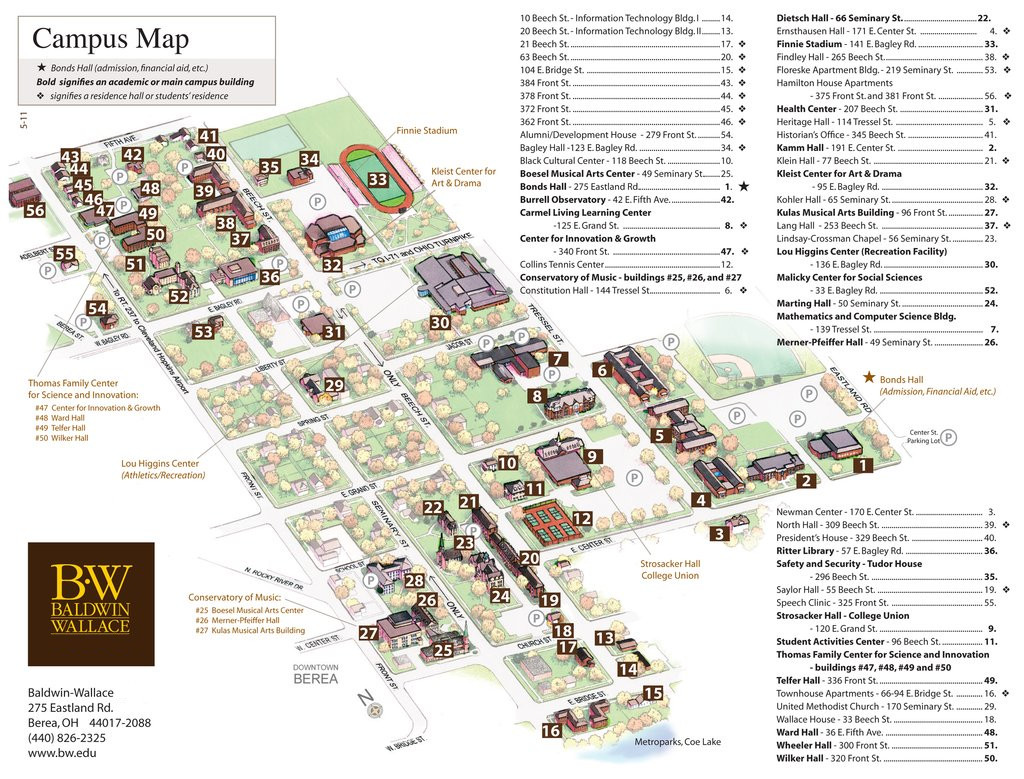 Campus Map of Heidelberg University Wayfinding map