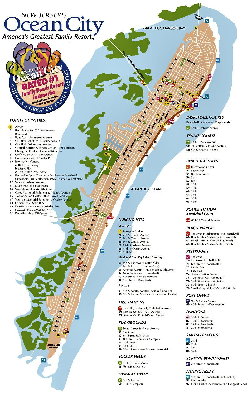 Printable Map Ucf Inspirational Ocean City Nj Street Map Ocean City Nj Pinterest