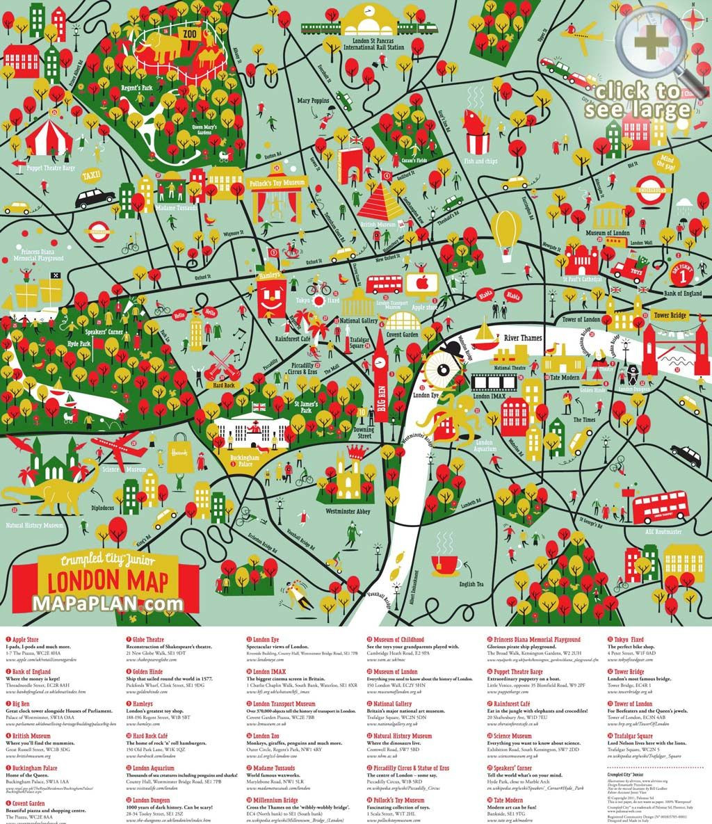 London maps Top tourist attractions Free printable city maps Mapaplan