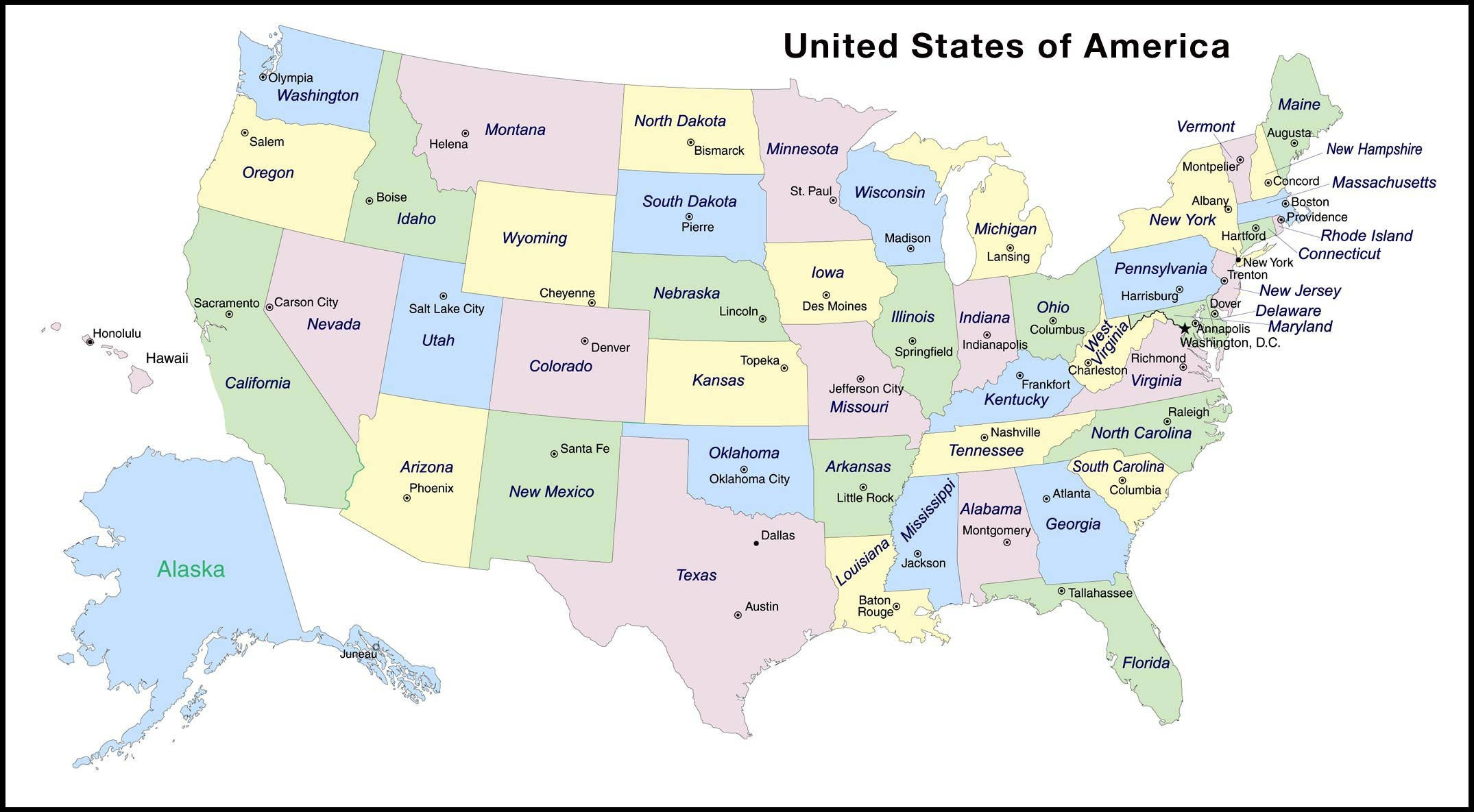 Map United States Capitals Best Us State Map Quiz – Map The World