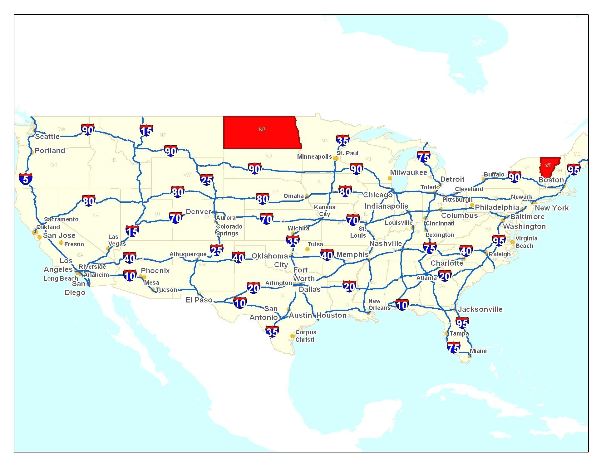Printable Map Valencia Inspirational United States Major Highways Map Free Downloads Interstate Highway