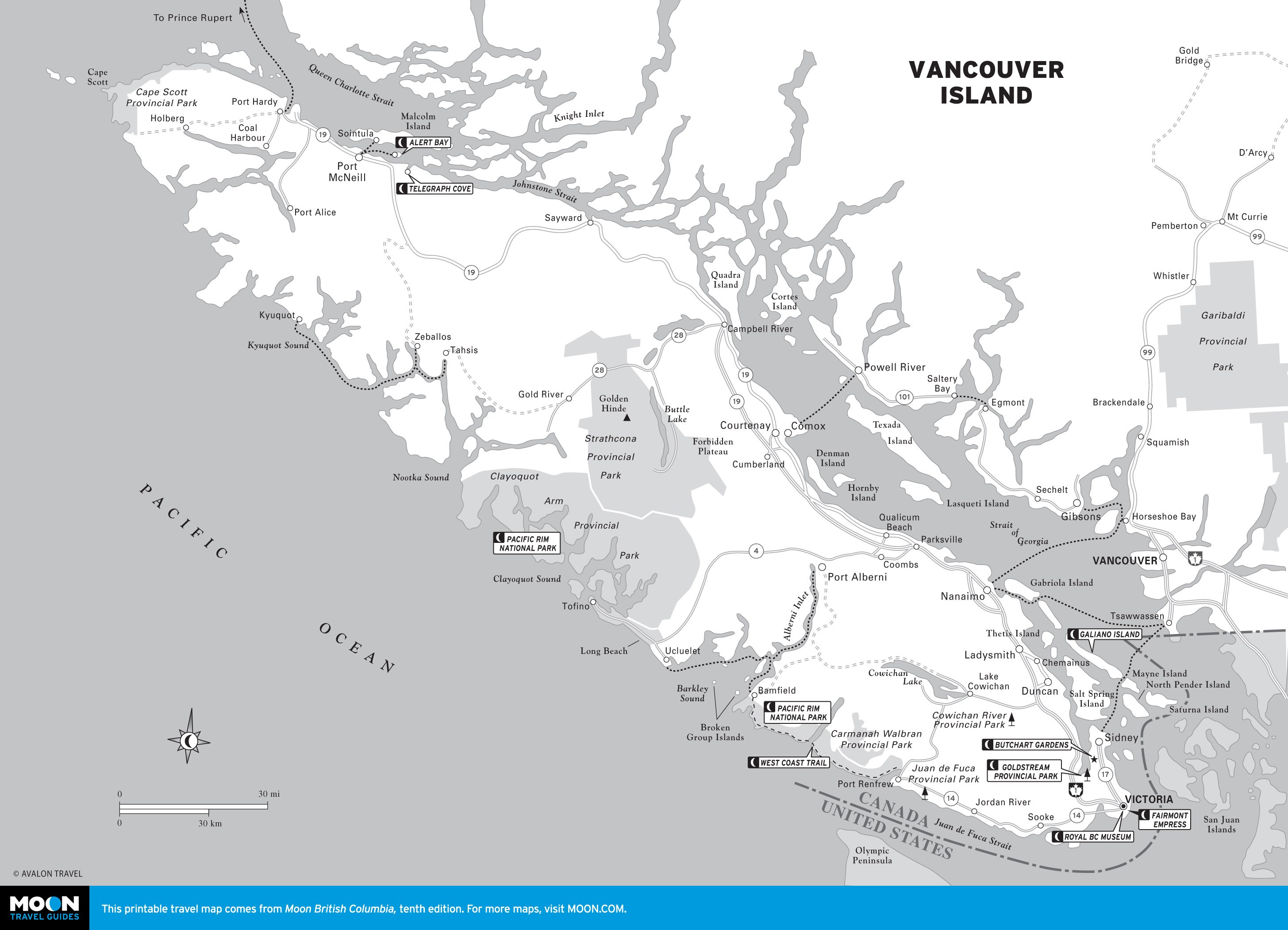 Printable Travel Maps of British Columbia