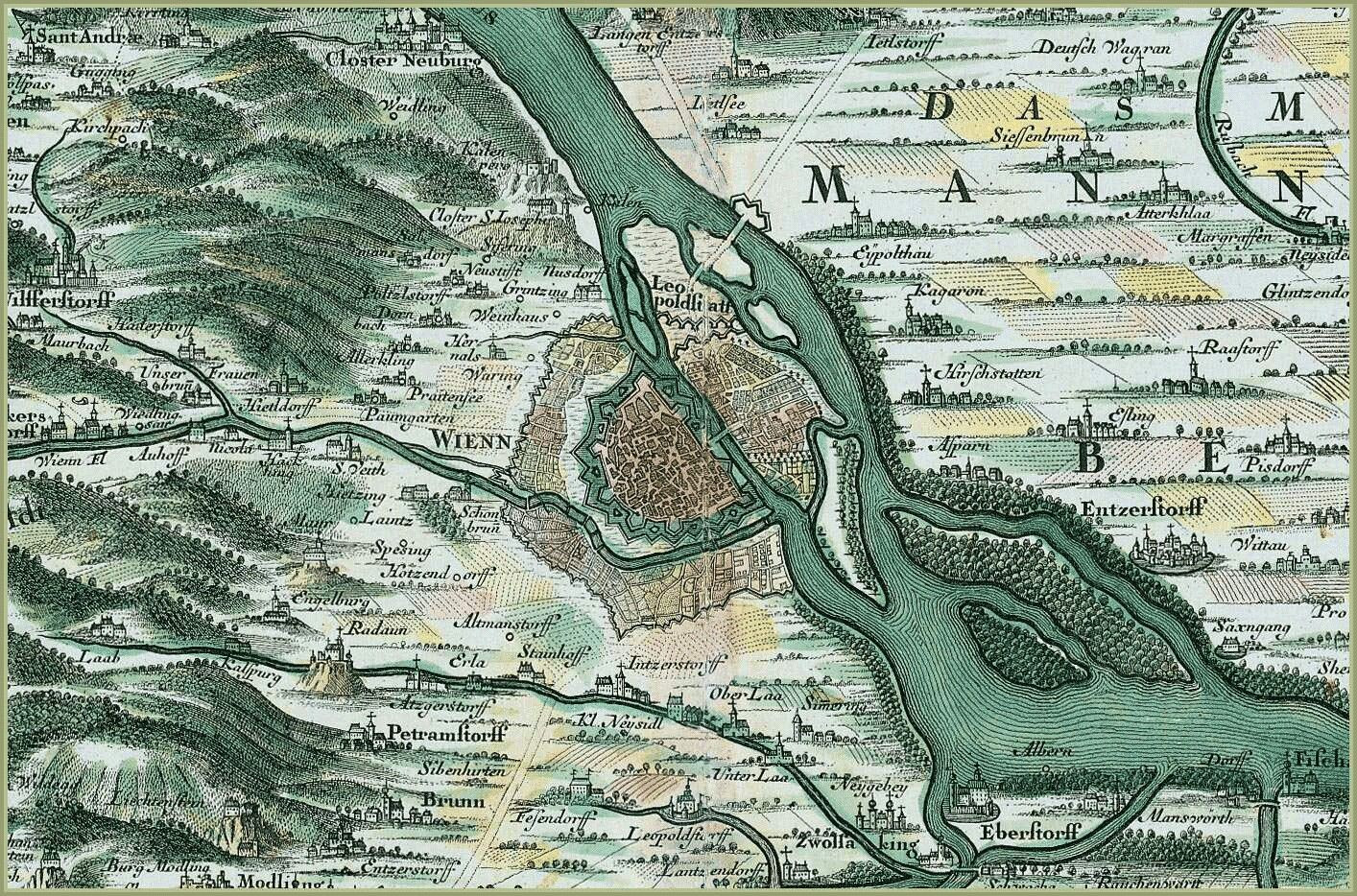 Printable Map Vienna Best Of Vienna 1730 Random Pinterest