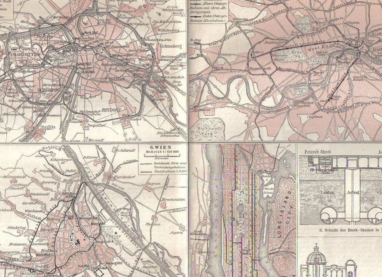 Printable Map Vienna Luxury 1897 City Railways Routes In London Berlin And Vienna At The End Of