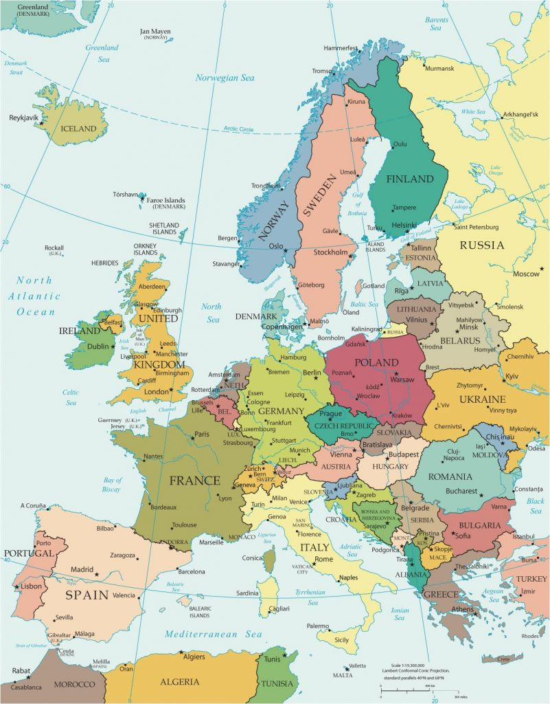 Printable Maps Western Europe Elegant New Printable Map Europe With Cities